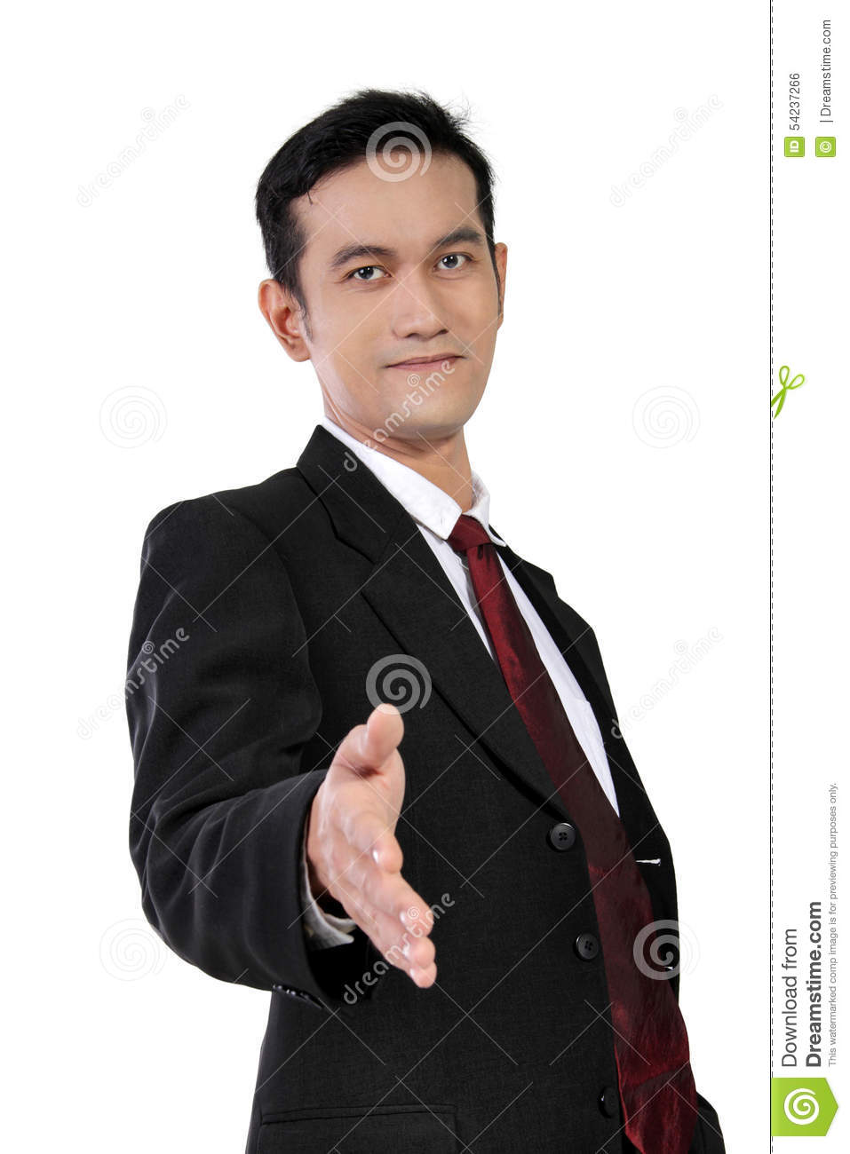 Download Young Asian Businessman Giving Handshake, Isolated On White Stock Photo - Image of giving, corporate: 54237266