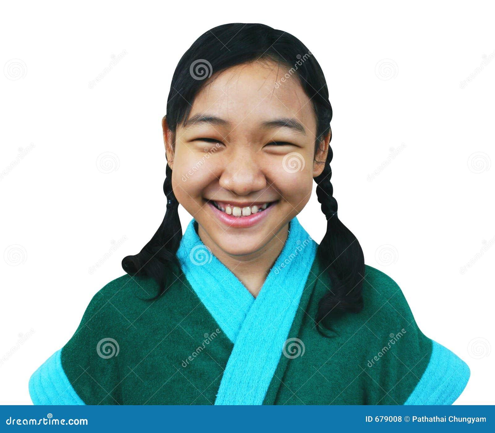 This asian teen school girls