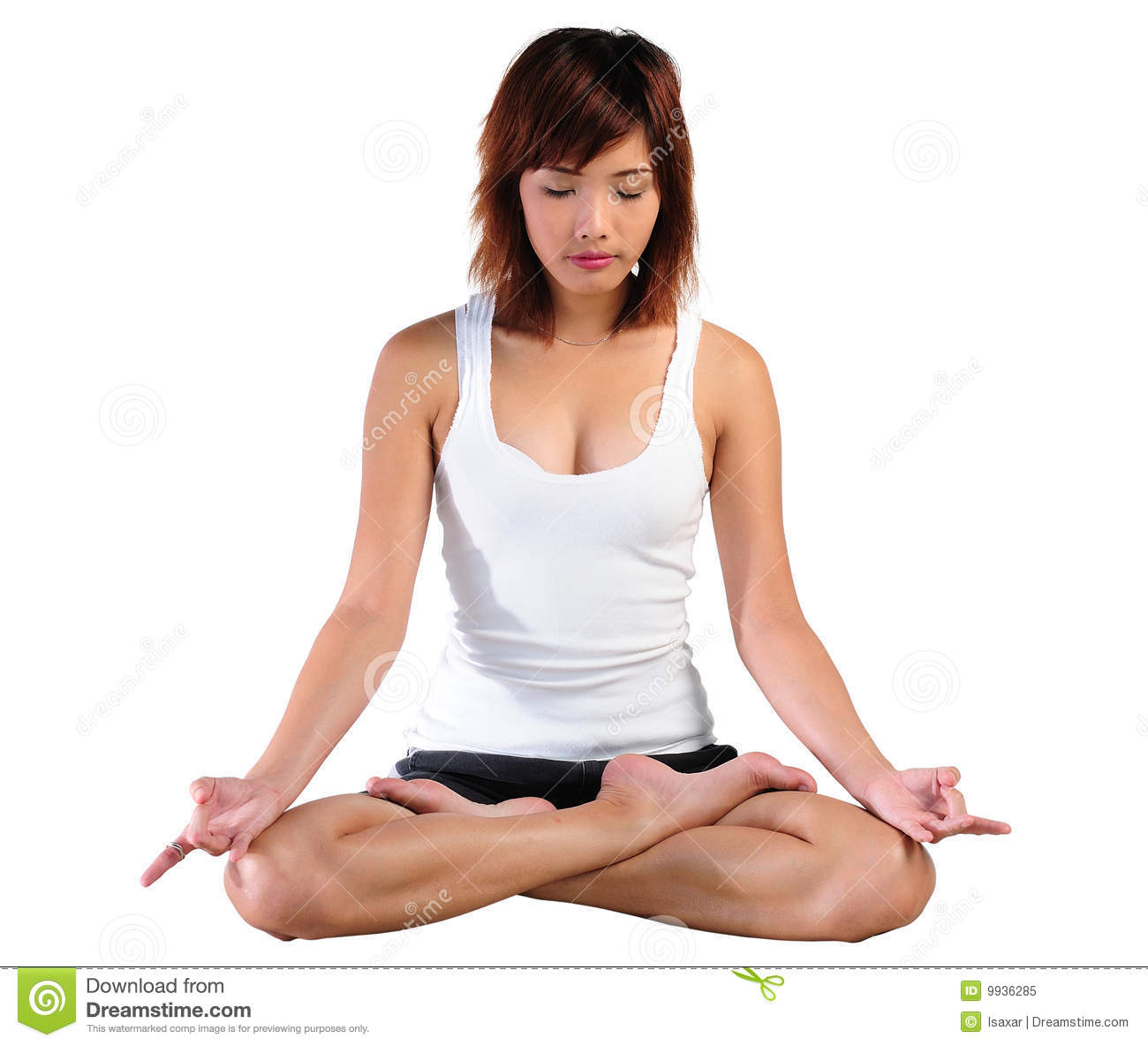 Young Asian Woman Practicing Yoga Royalty Free Stock Photo