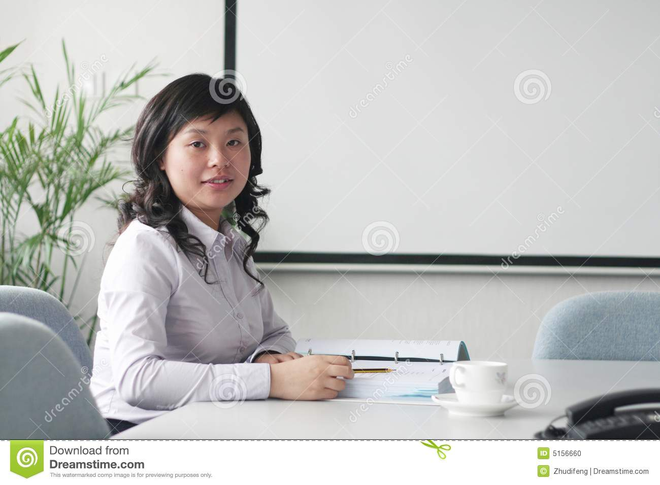 Young Asian Women In Meeting Room Stock Photo Image 5156660