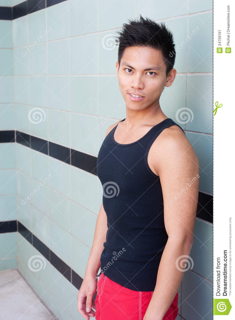 Young Athletic Asian Swimmer Stock Image Image 24759161