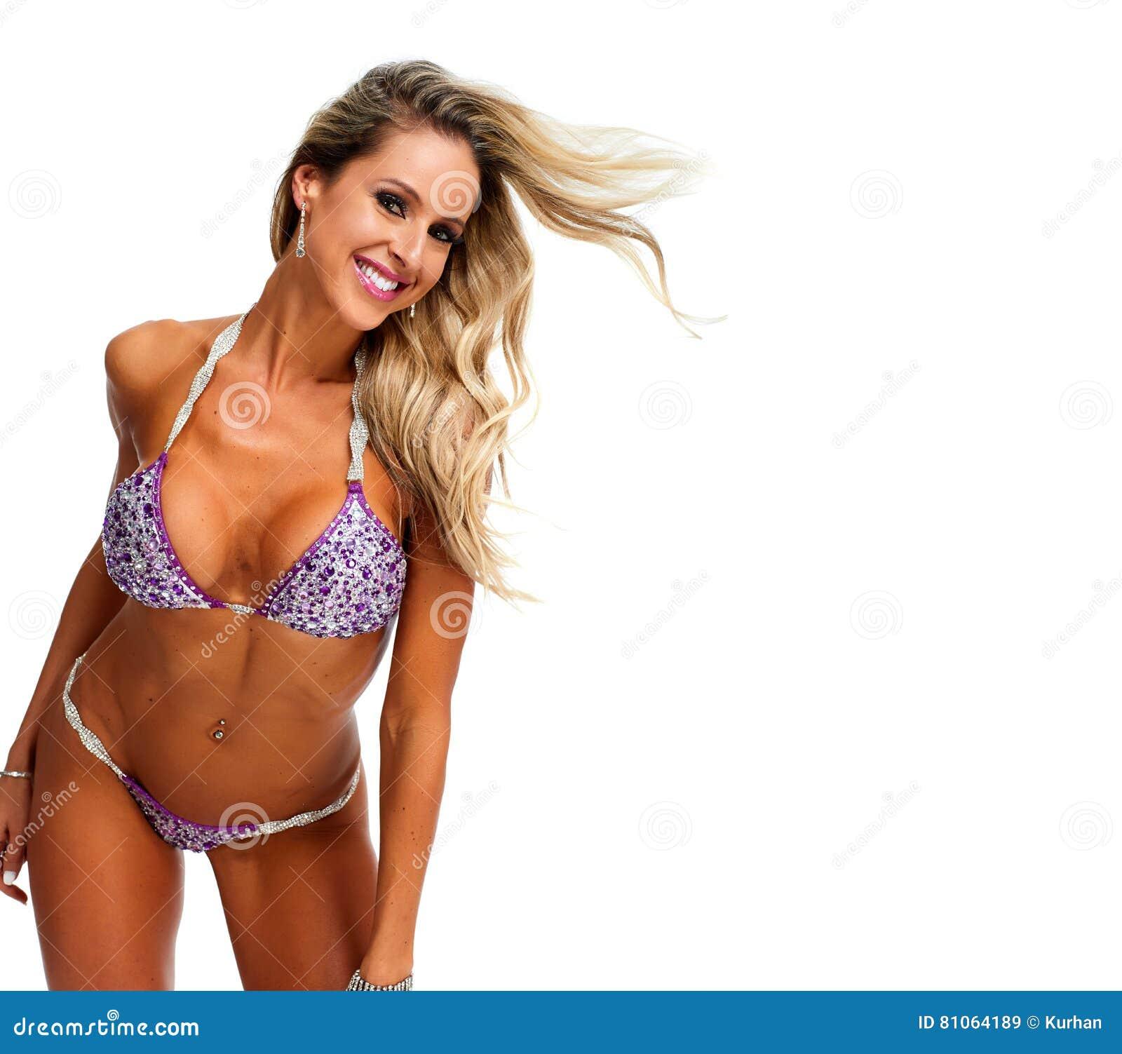 b5703b1c9c Young Athletic Girl With Body In Bikini. Stock Image - Image of ...