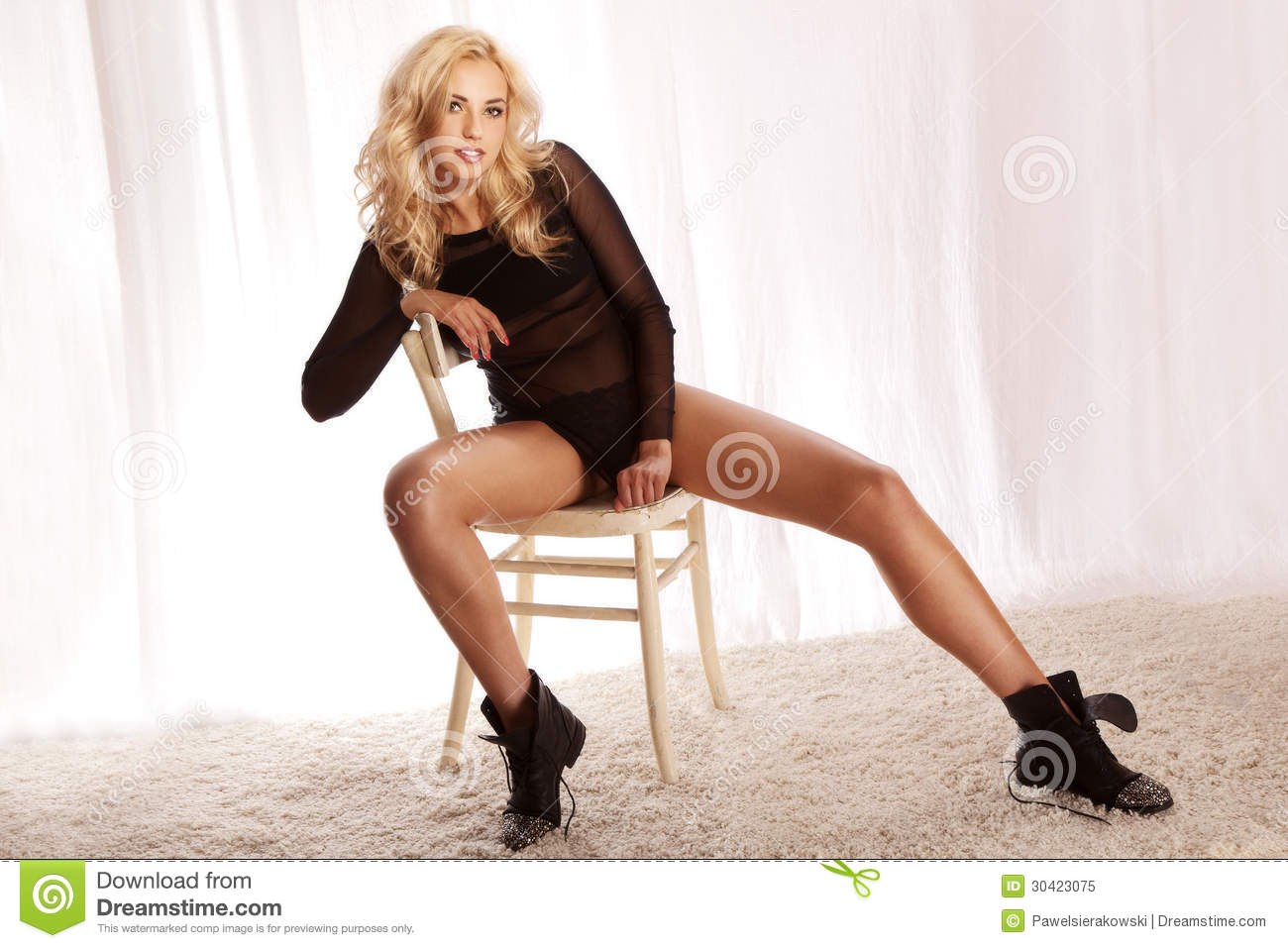 Remarkable, very hot girl sitting in chair