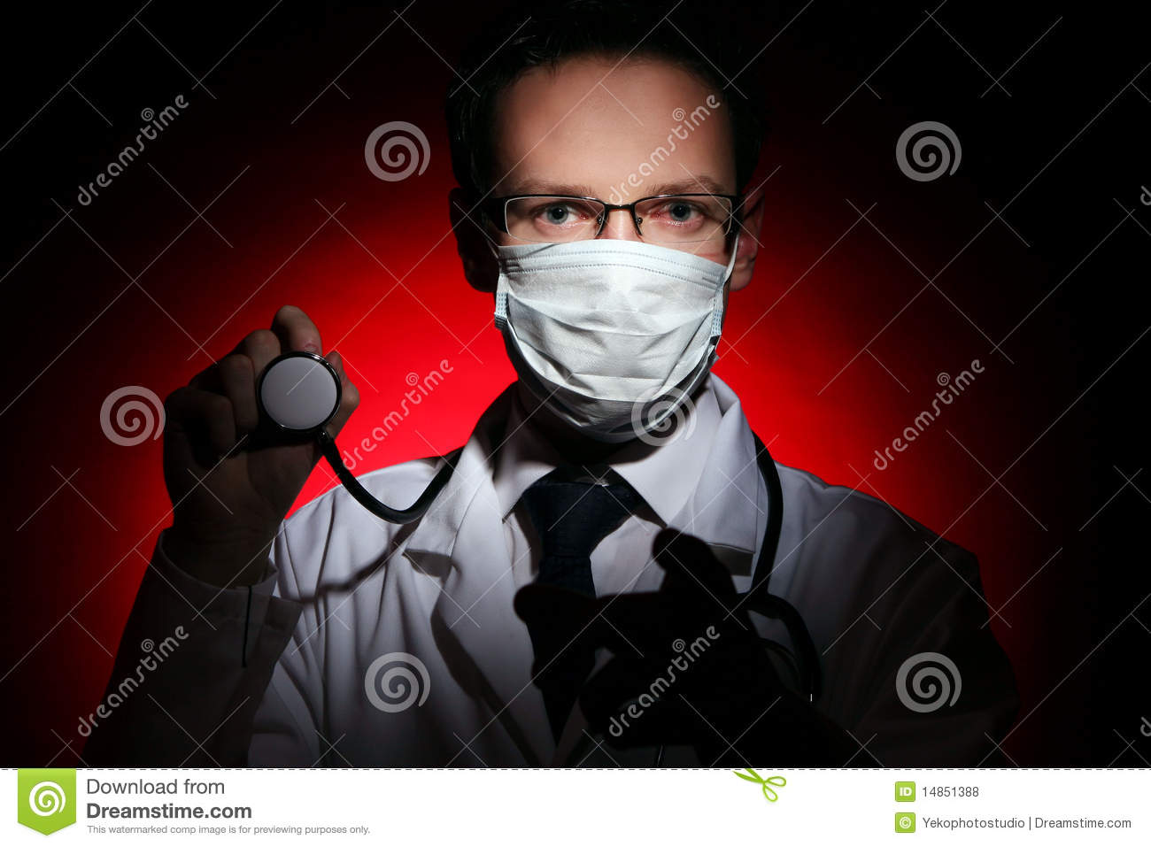 Young and attractive doctor assistant