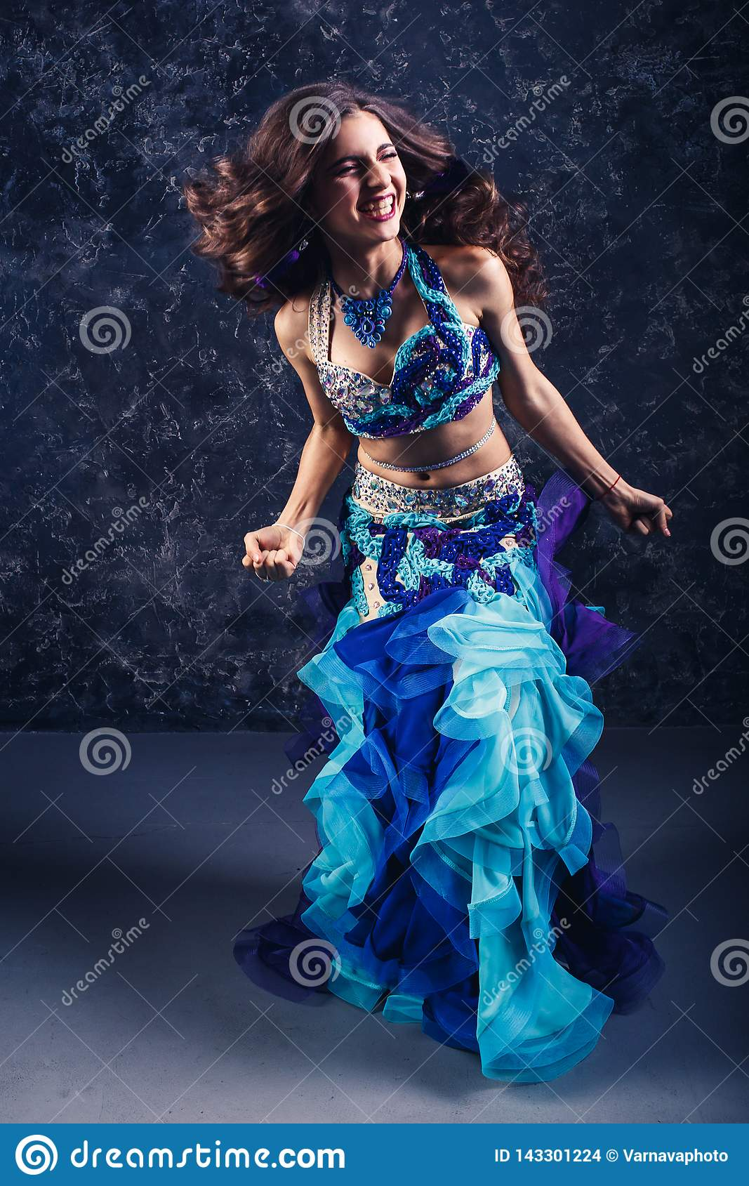 Young Belly Dancing Girl stock photo. Image of outdoor