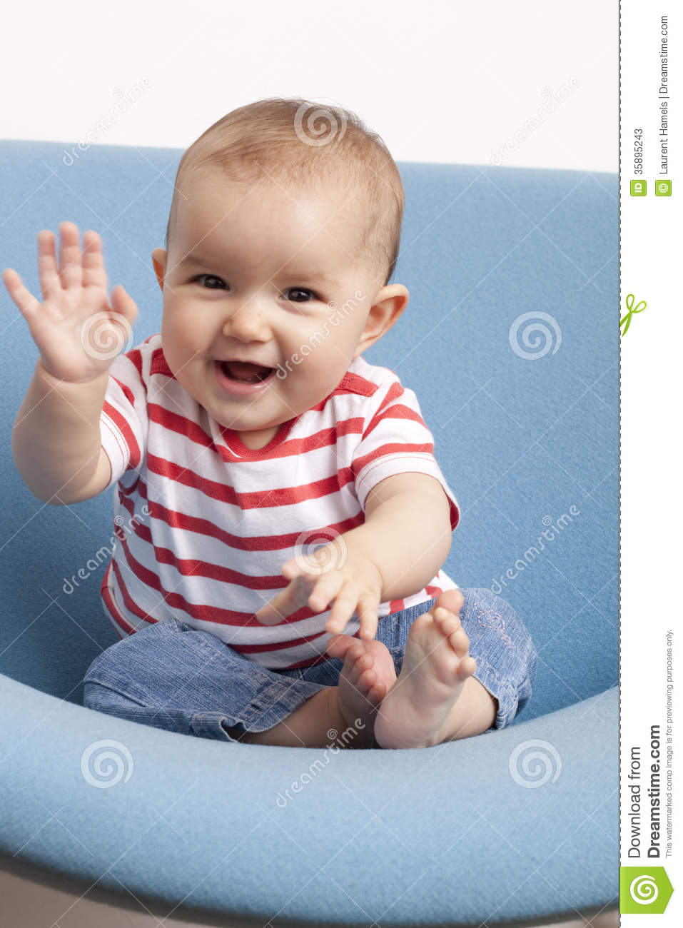 hi baby images young baby saying hello stock image image of playing 4512