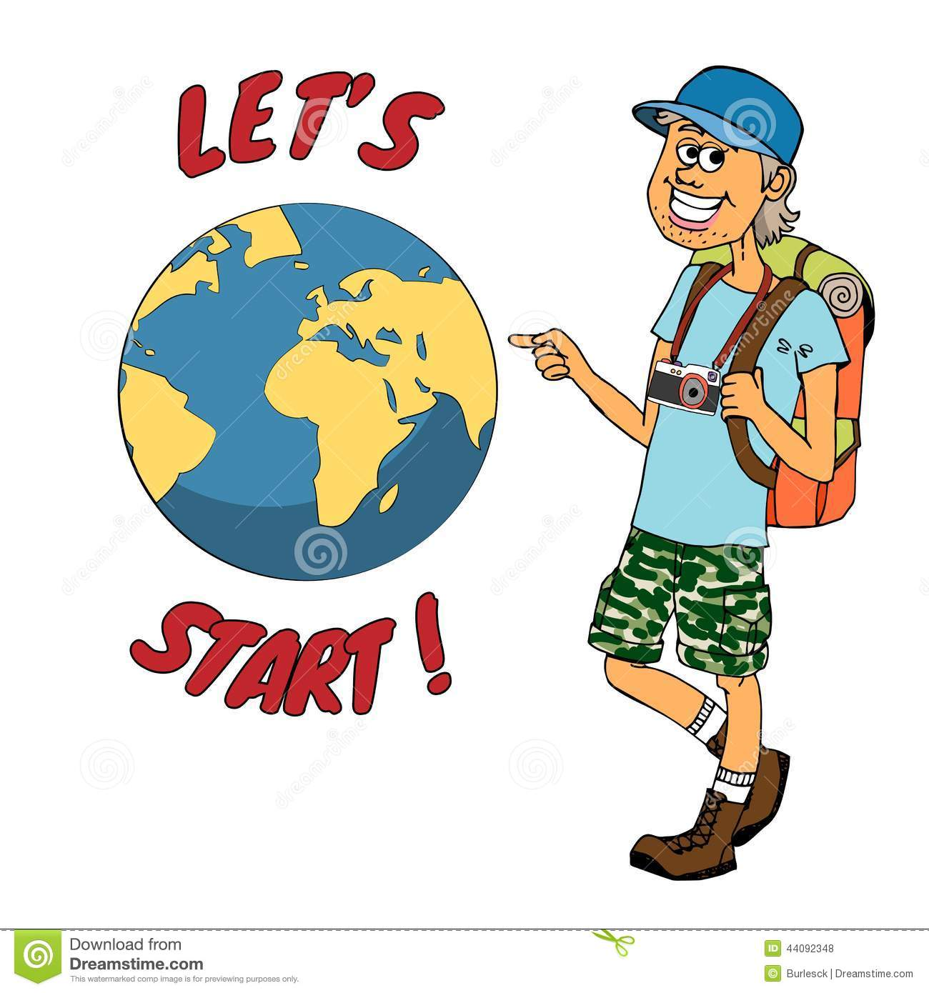 young backpacker ready to journey around the globe stock hiker clipart png hiker clipart png