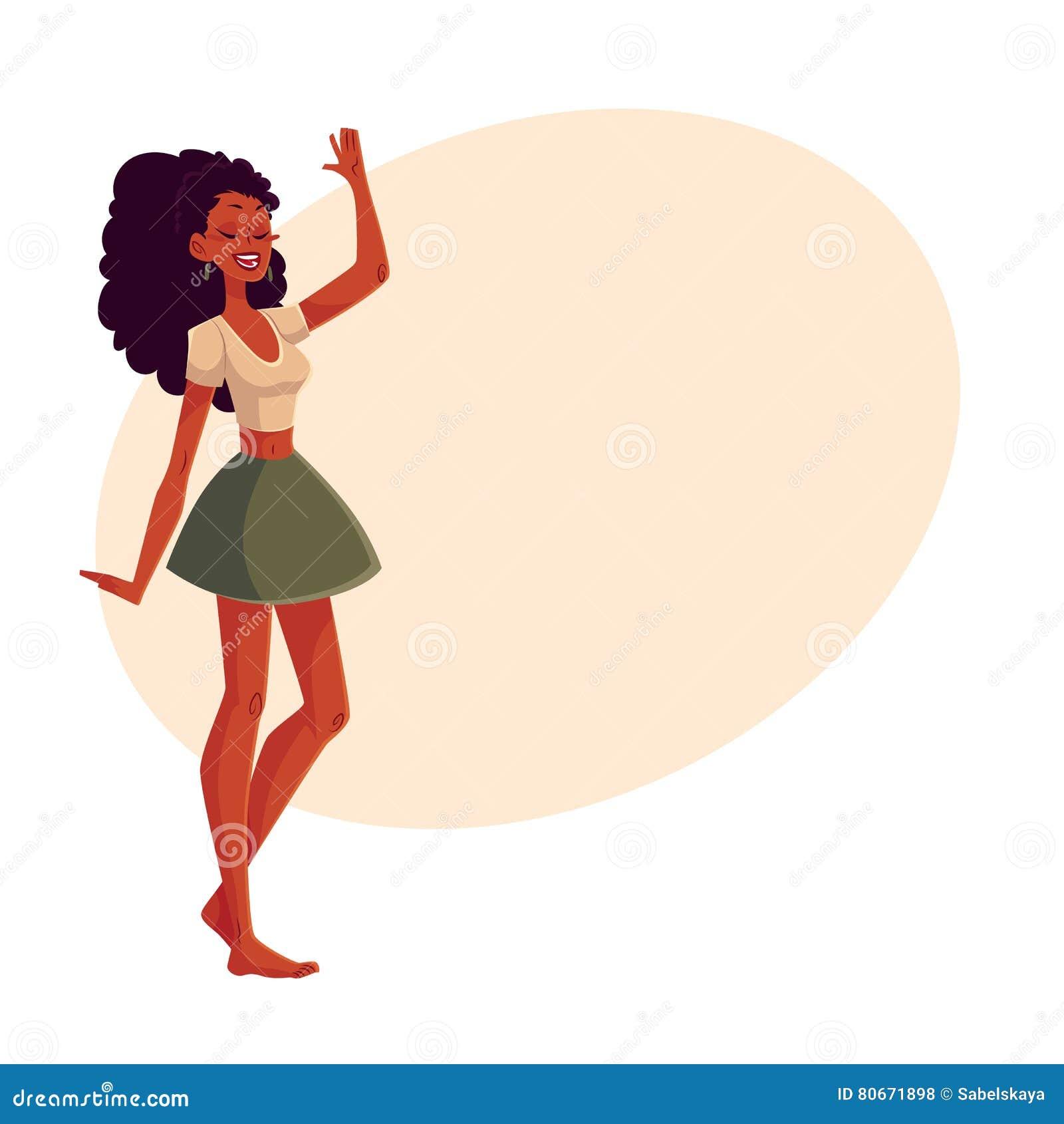 Black dancing Teen woman