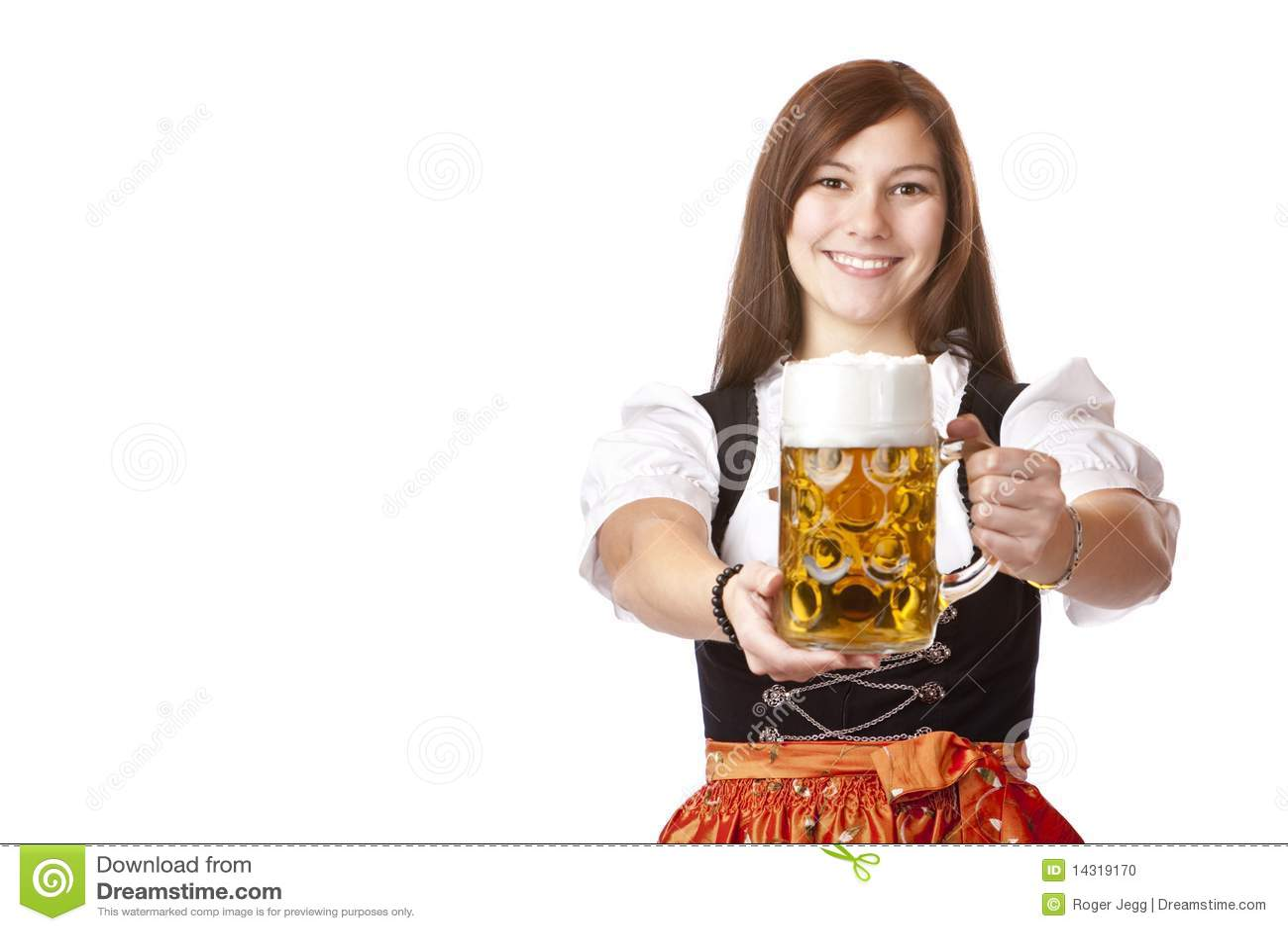 ... Woman Holds Oktoberfest Beer Stein Stock Photo - Image: 14319170