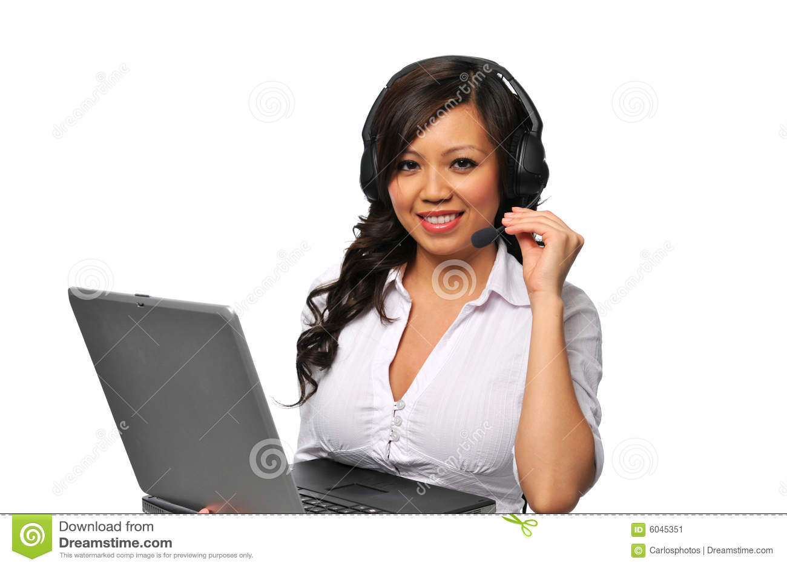 Young beautiful asian customer service representat