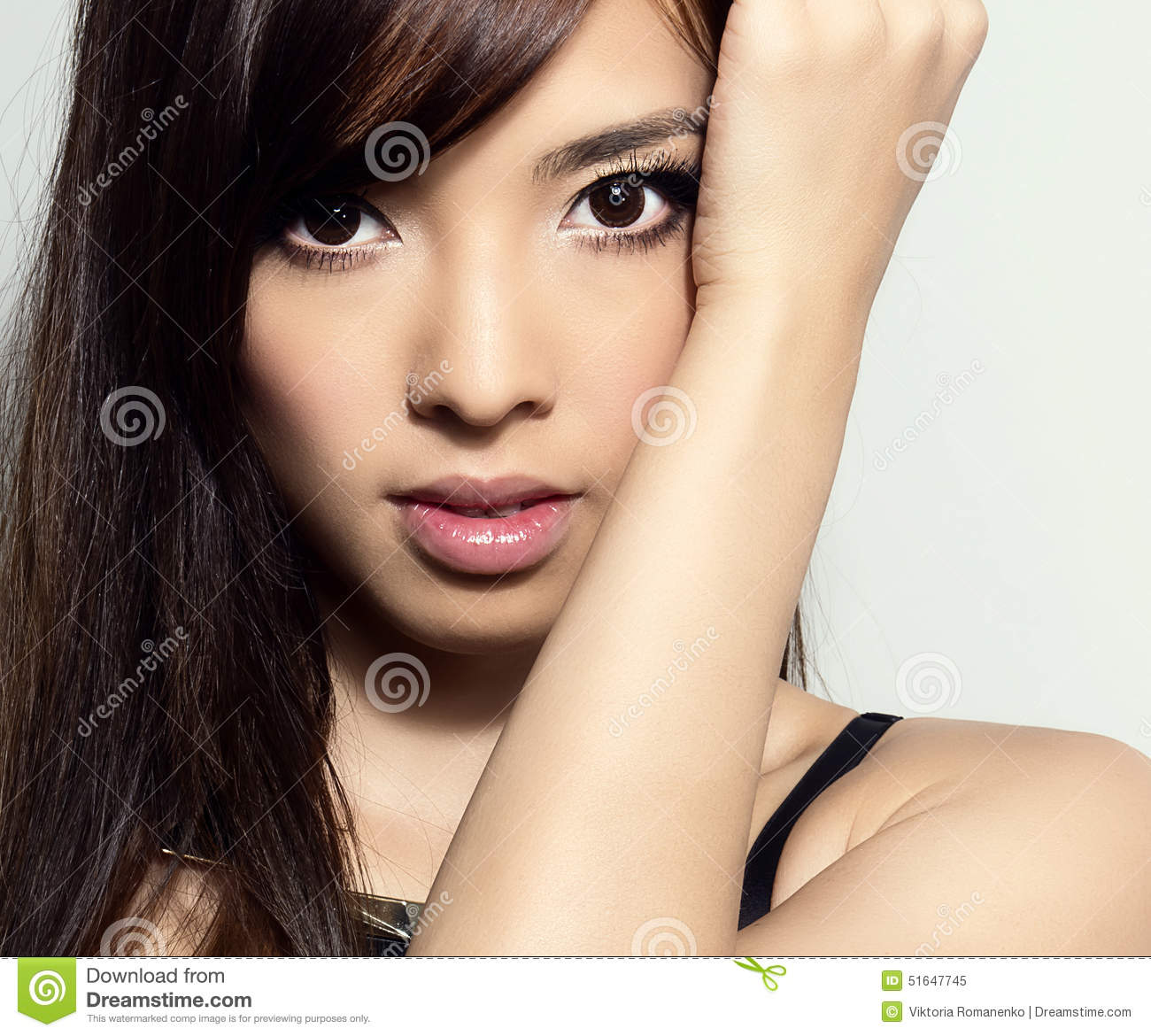 Flawless Skin: Young Beautiful Asian Woman With Flawless Skin And Perfect