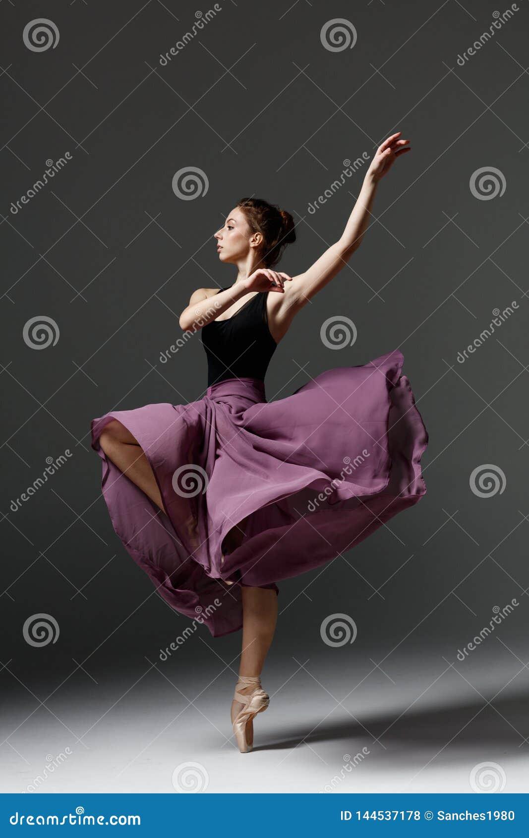 Young Beautiful Ballerina Is Posing In Studio Stock Photo Image Of Beauty Caucasian 144537178