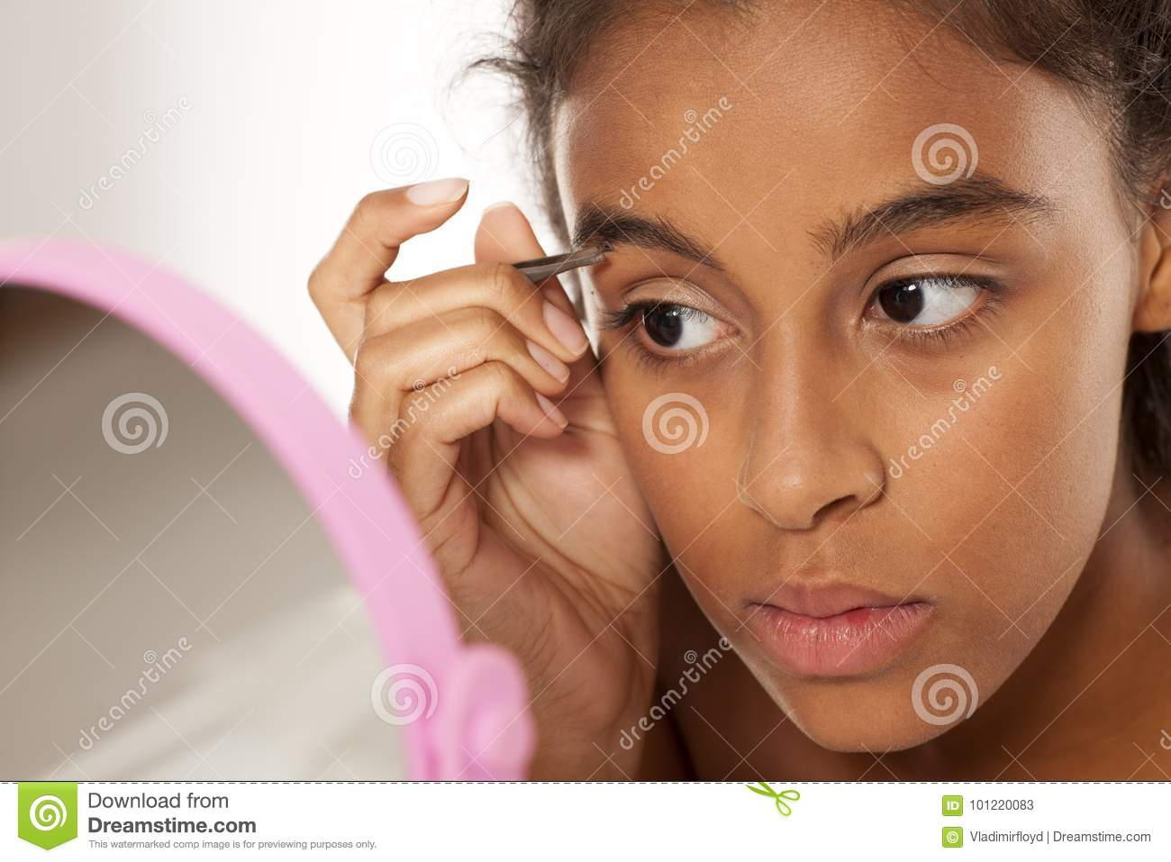 Eyebrows Plucking Stock Image Image Of Pull Face Background