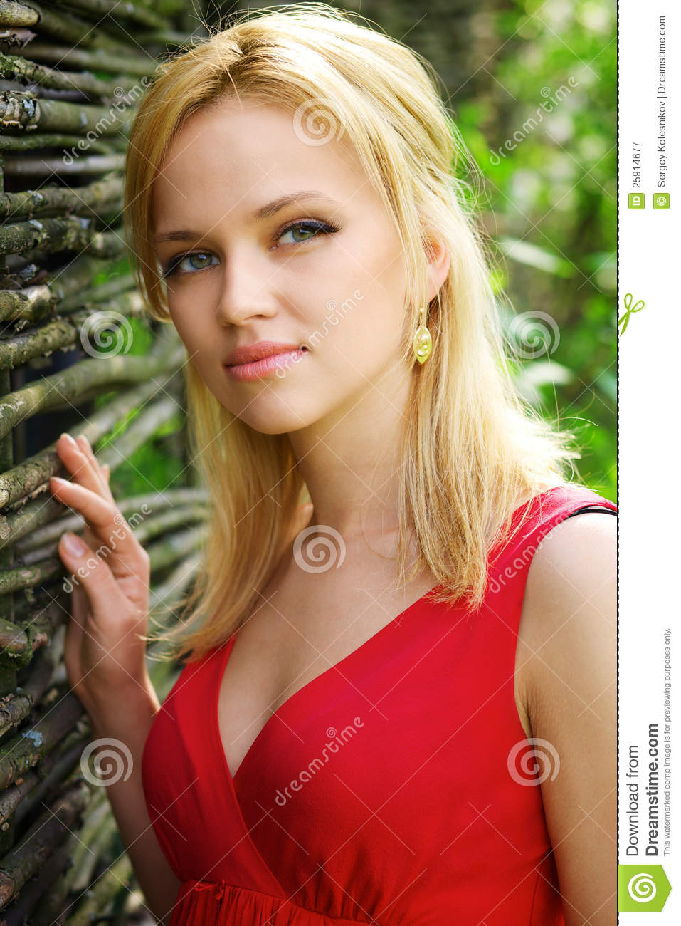 Young Beautiful Blonde Woman Royalty Free Stock ...
