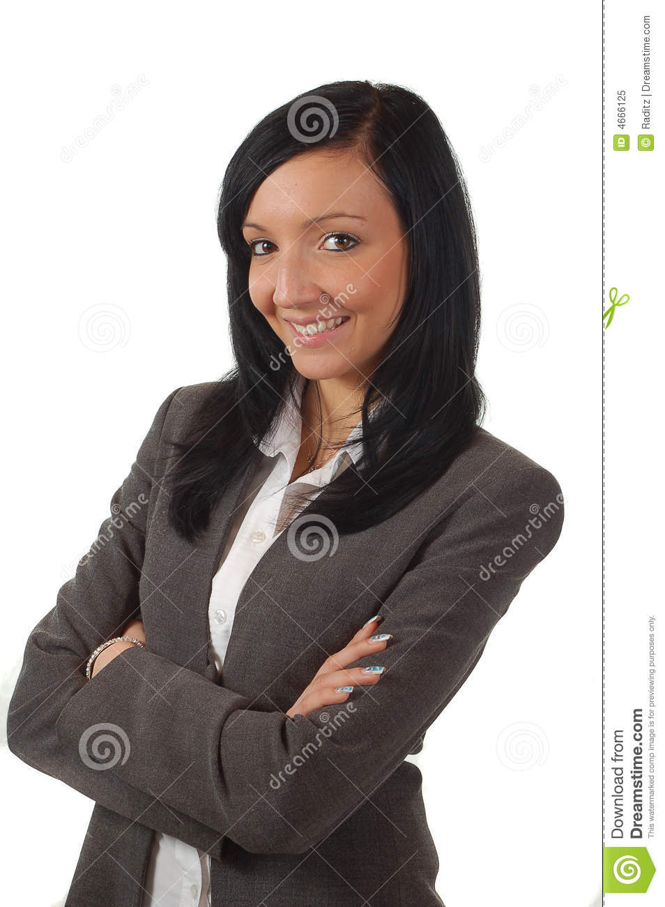 Young and beautiful business woman smileing