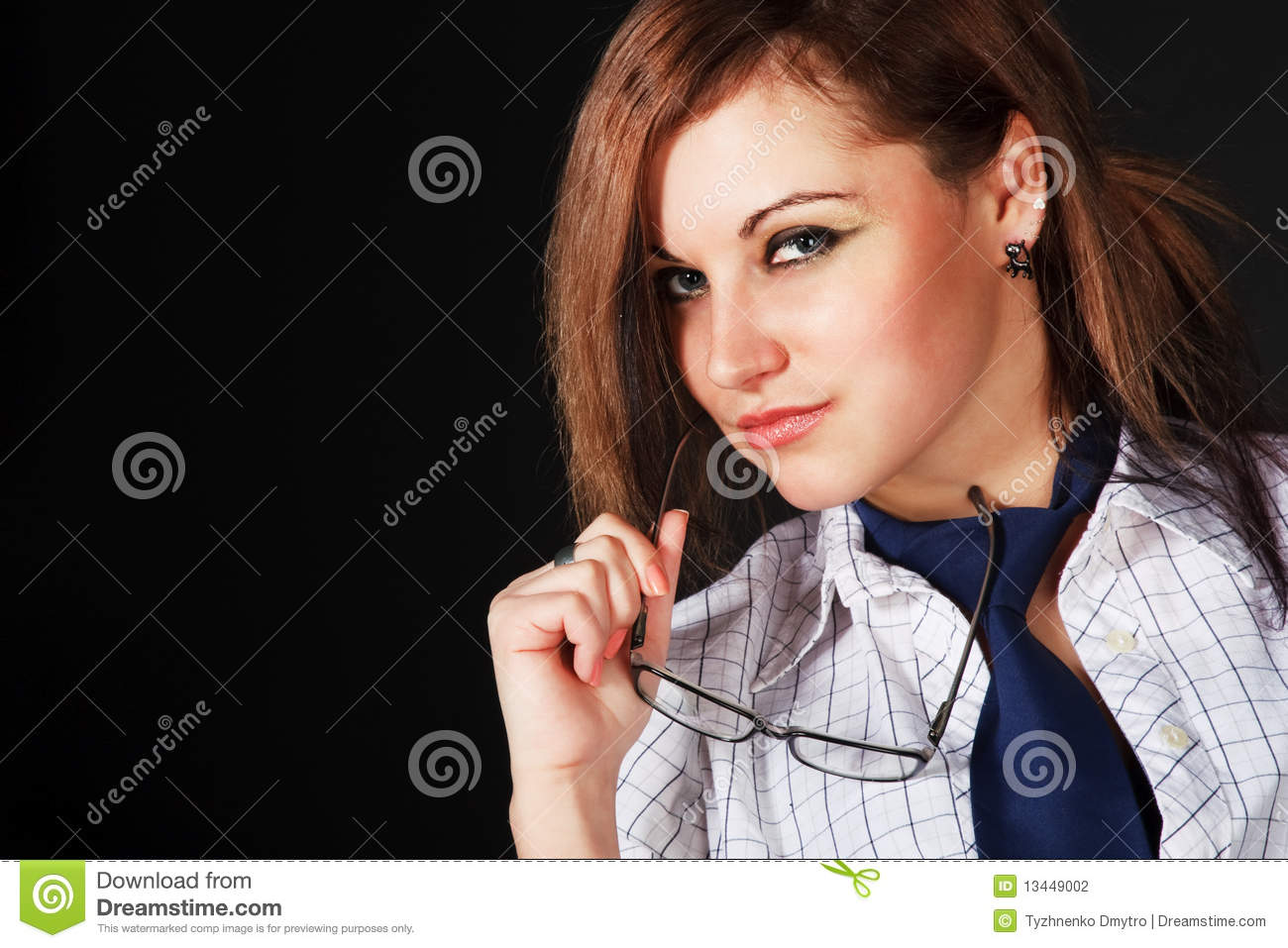 Young beautiful charming girl in white blouse stock photography image 13449002 - Charming teenage girls image ...