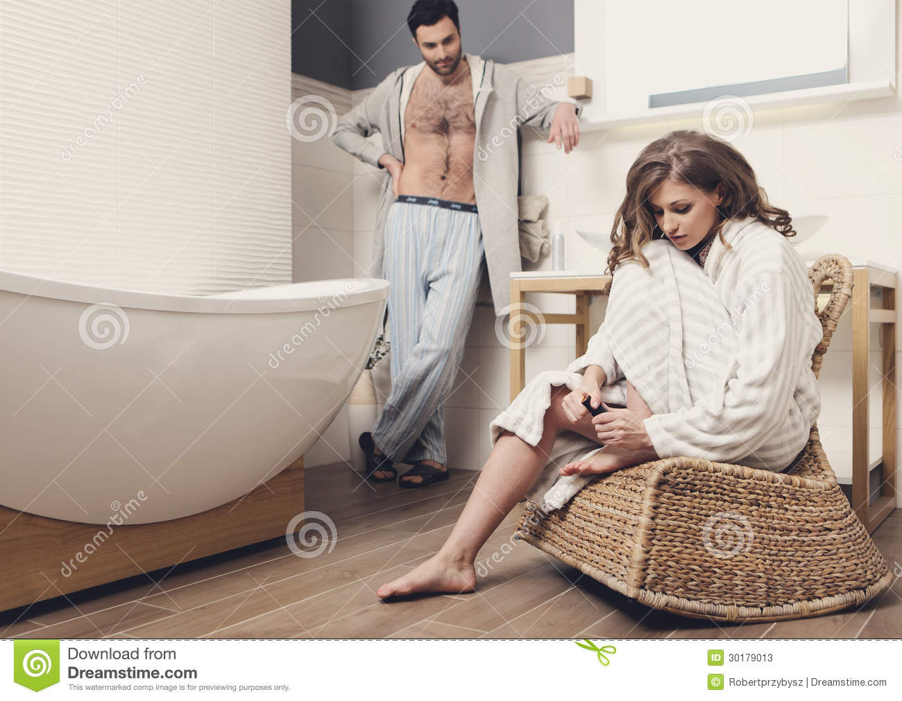 couple in the bathroom stock photos image 30179013