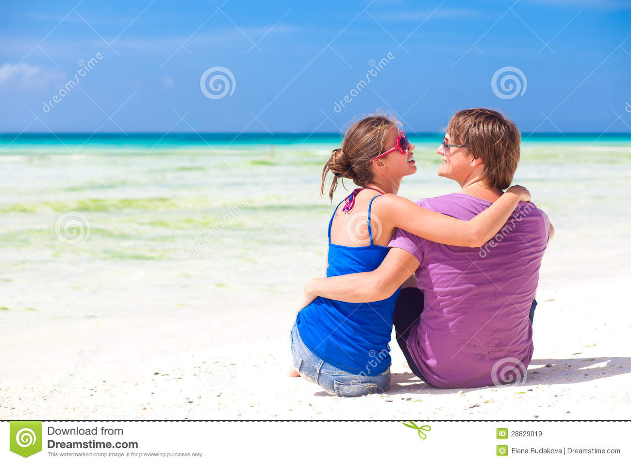 Young beautiful couple on tropical boracay beachhoneymoon stock royalty free stock photo kristyandbryce Images