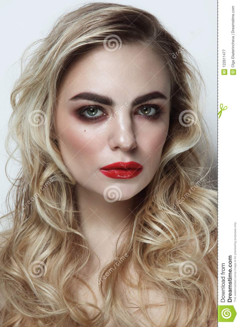 Rather girls with blonde curly hair
