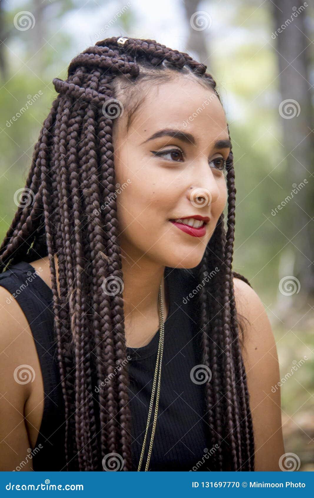 Amazing Young Beautiful Girl With Braided Hair Stock Photo Image Of Girl Schematic Wiring Diagrams Phreekkolirunnerswayorg