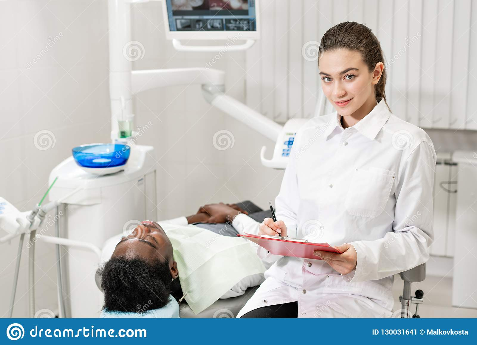 Charming Beautiful Girl Doctor Dentist  Young African