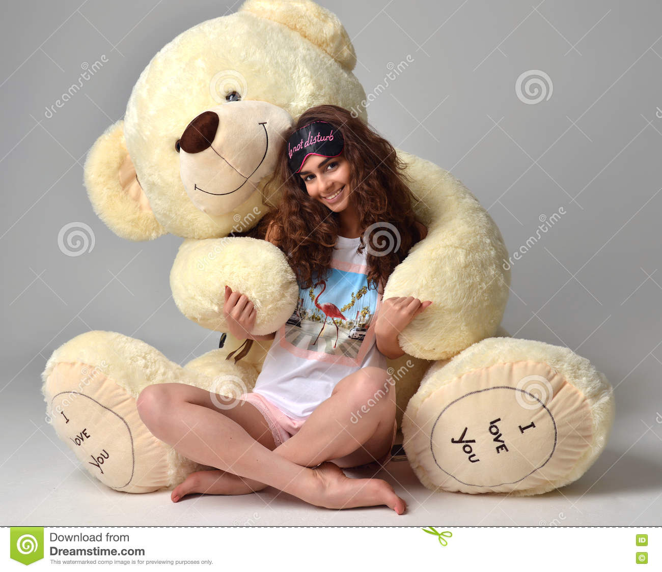 Nude Girl With Teddy Bear
