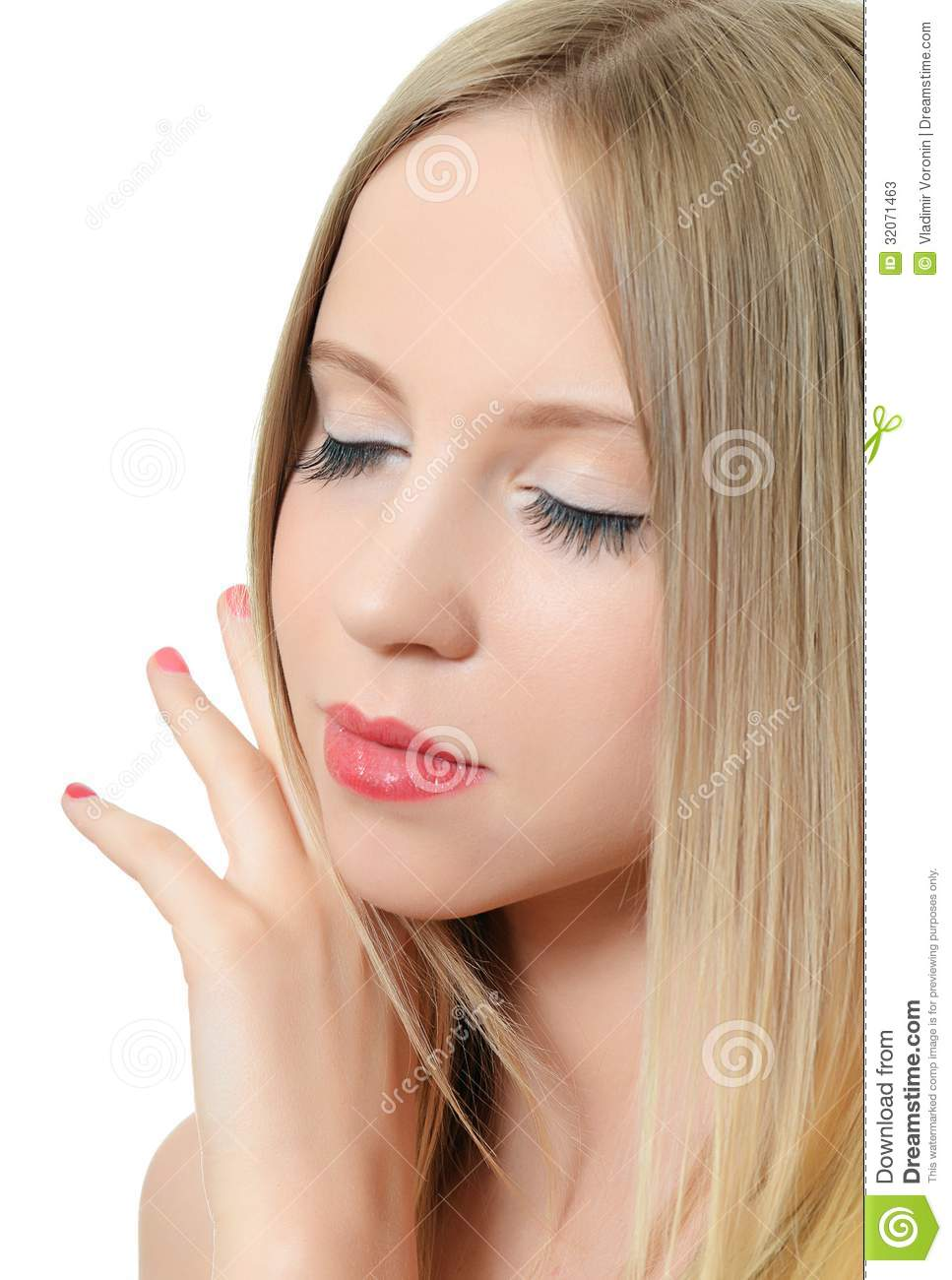 Young Beautiful Girl With Make Up Stock Image Image