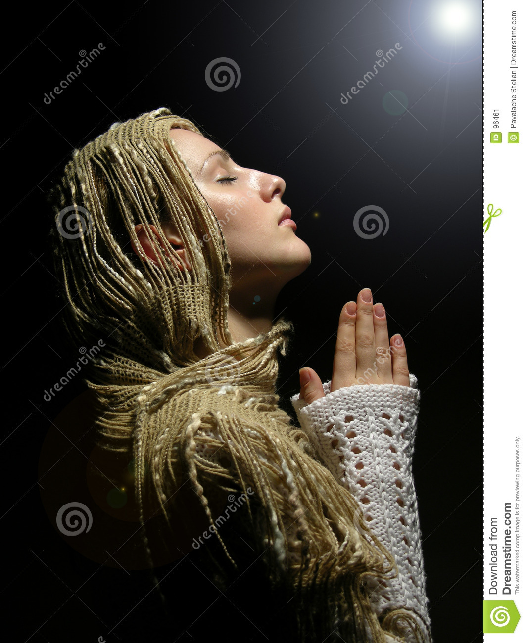 Young And Beautiful Girl Praying 2 Stock Image Image 96461