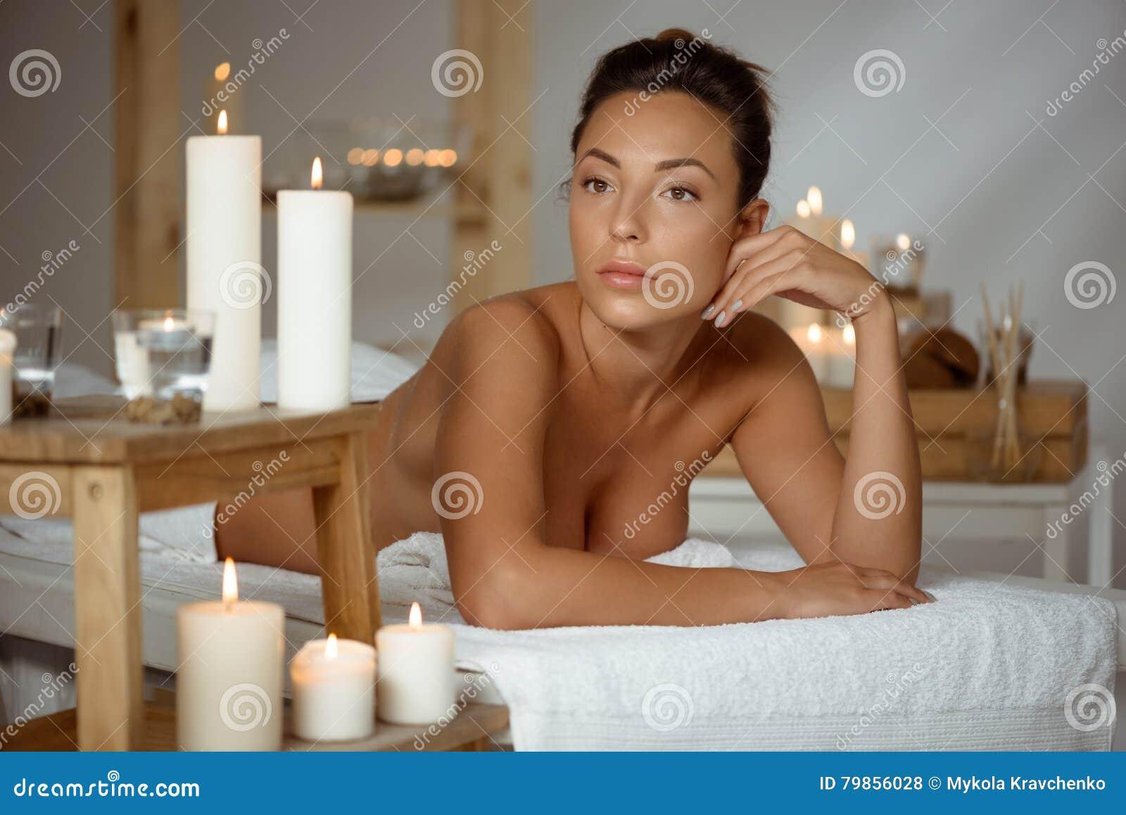 Girl naked in spa