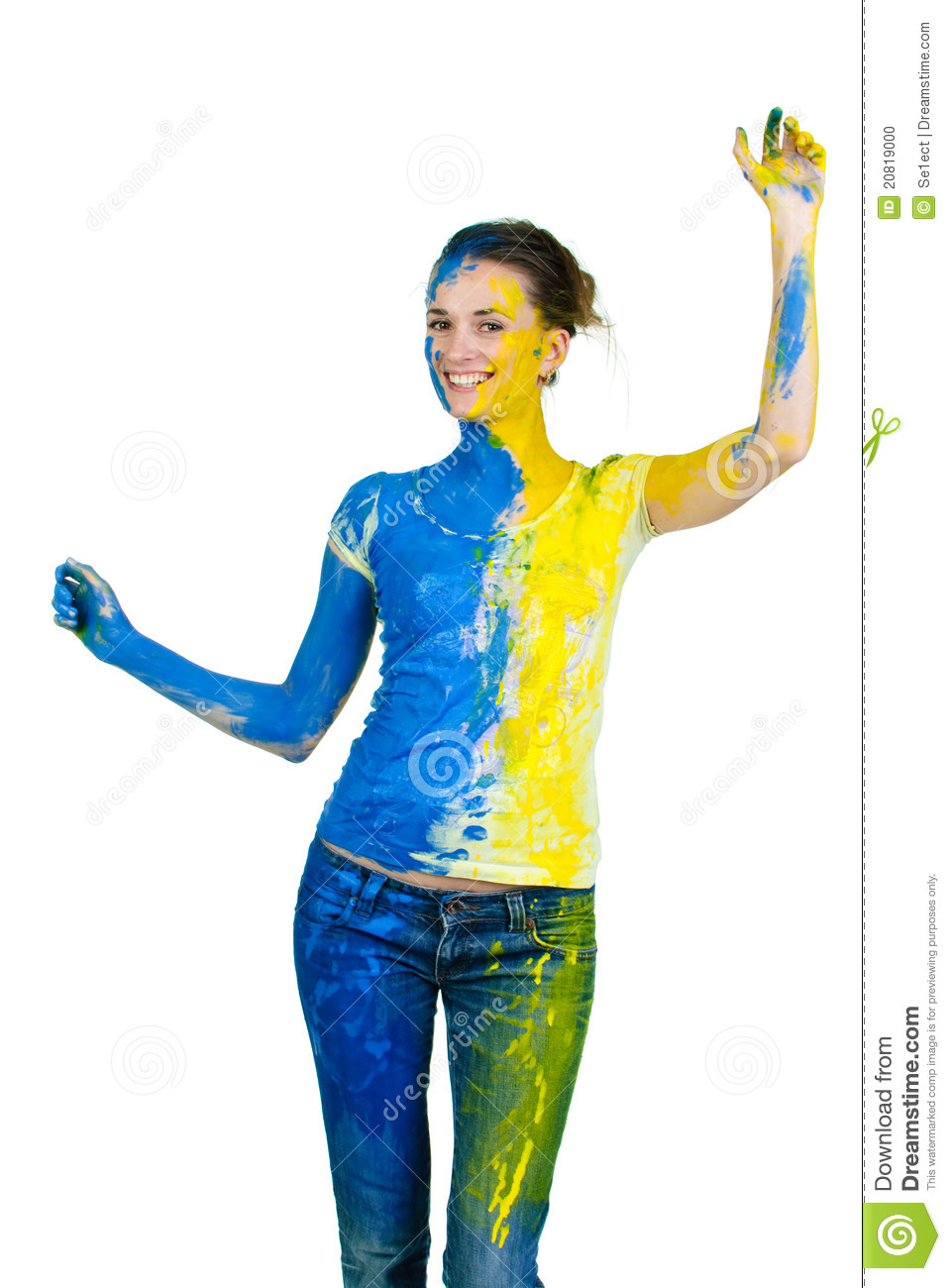 Young Beautiful Painted Woman Stock Photo - Image: 20819000