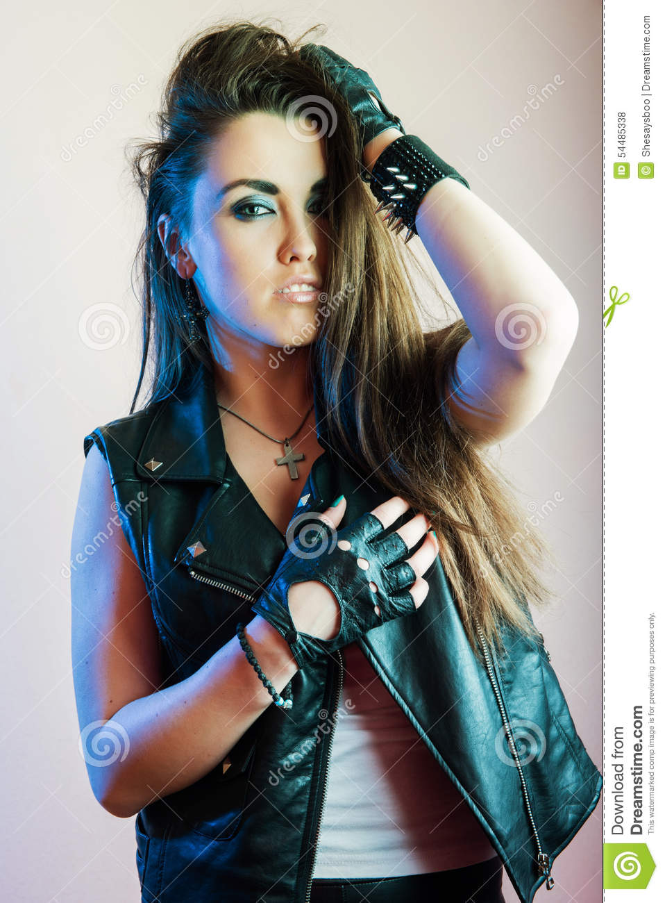 Young Beautiful Punk Girl Stock Photo Image Of Spring -7398
