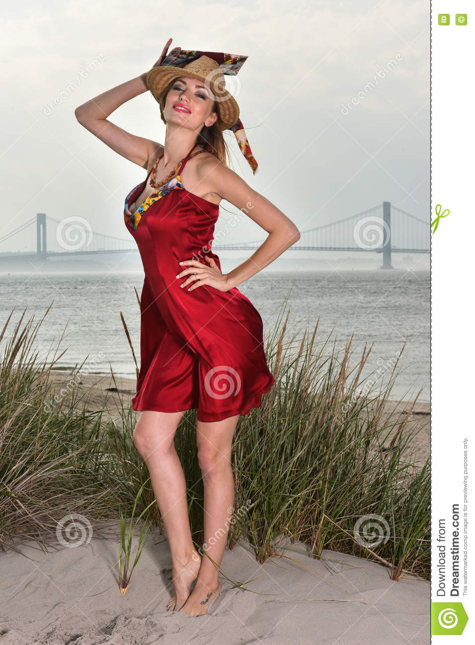 Congratulate, brilliant sexy blonde red dress