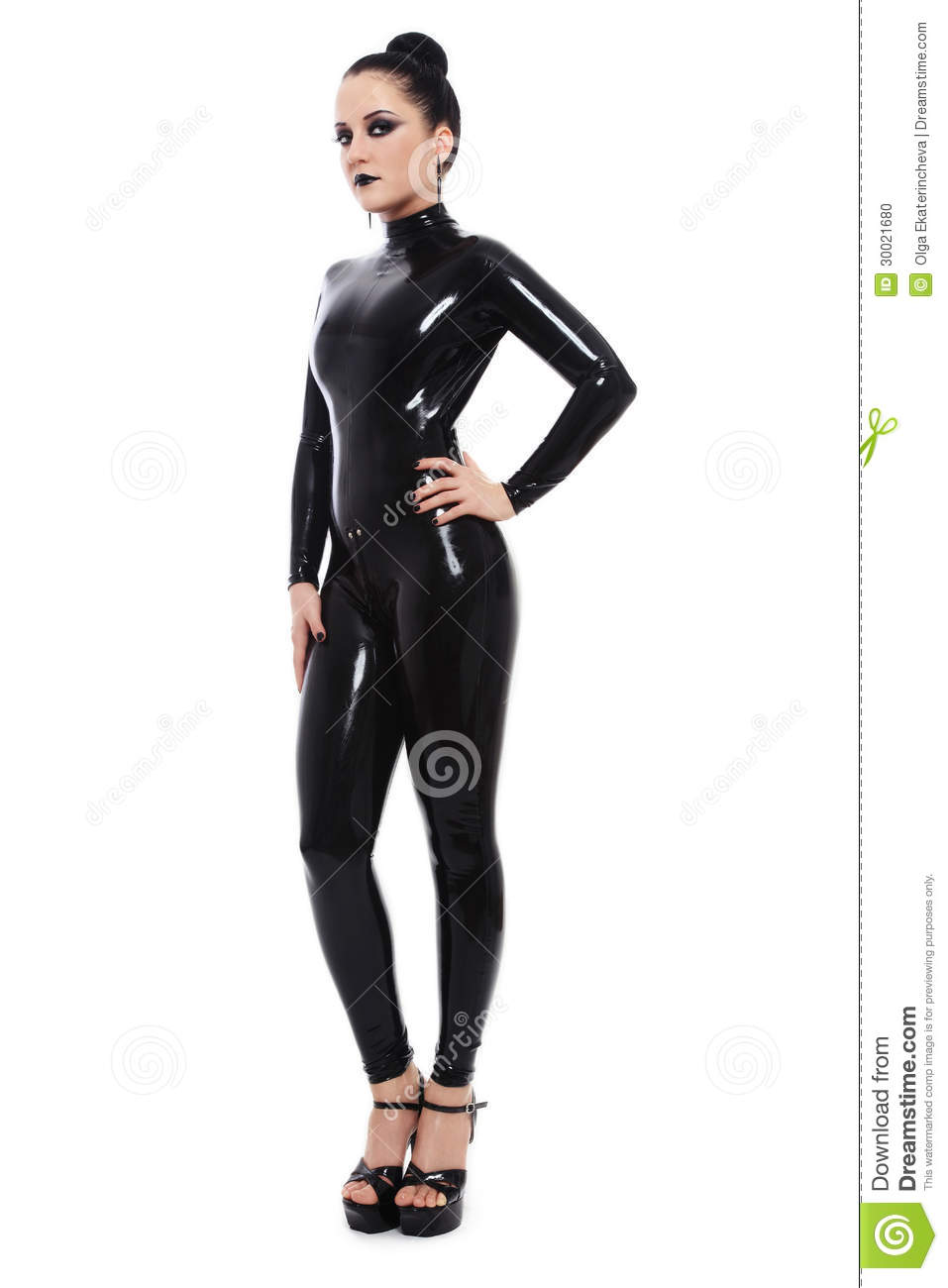 Can ask girls in latex catsuits are