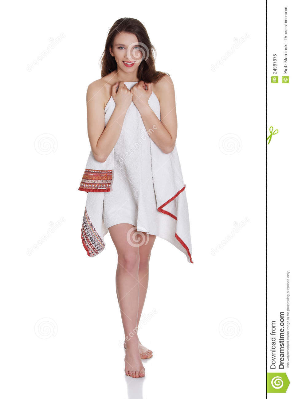 Young Beautiful Teen Woman With Towel Stock Photo - Image of care ... f073748ea