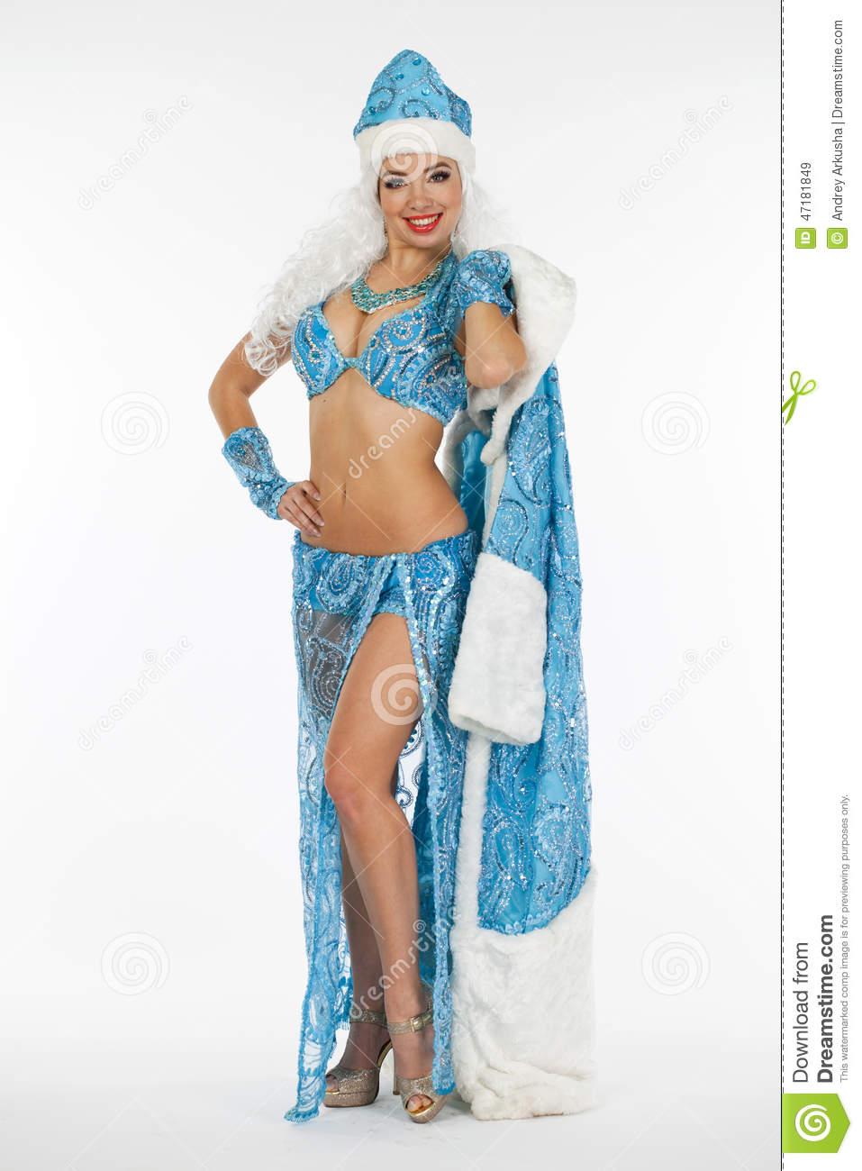 Can speak sexy naked snow girl costume
