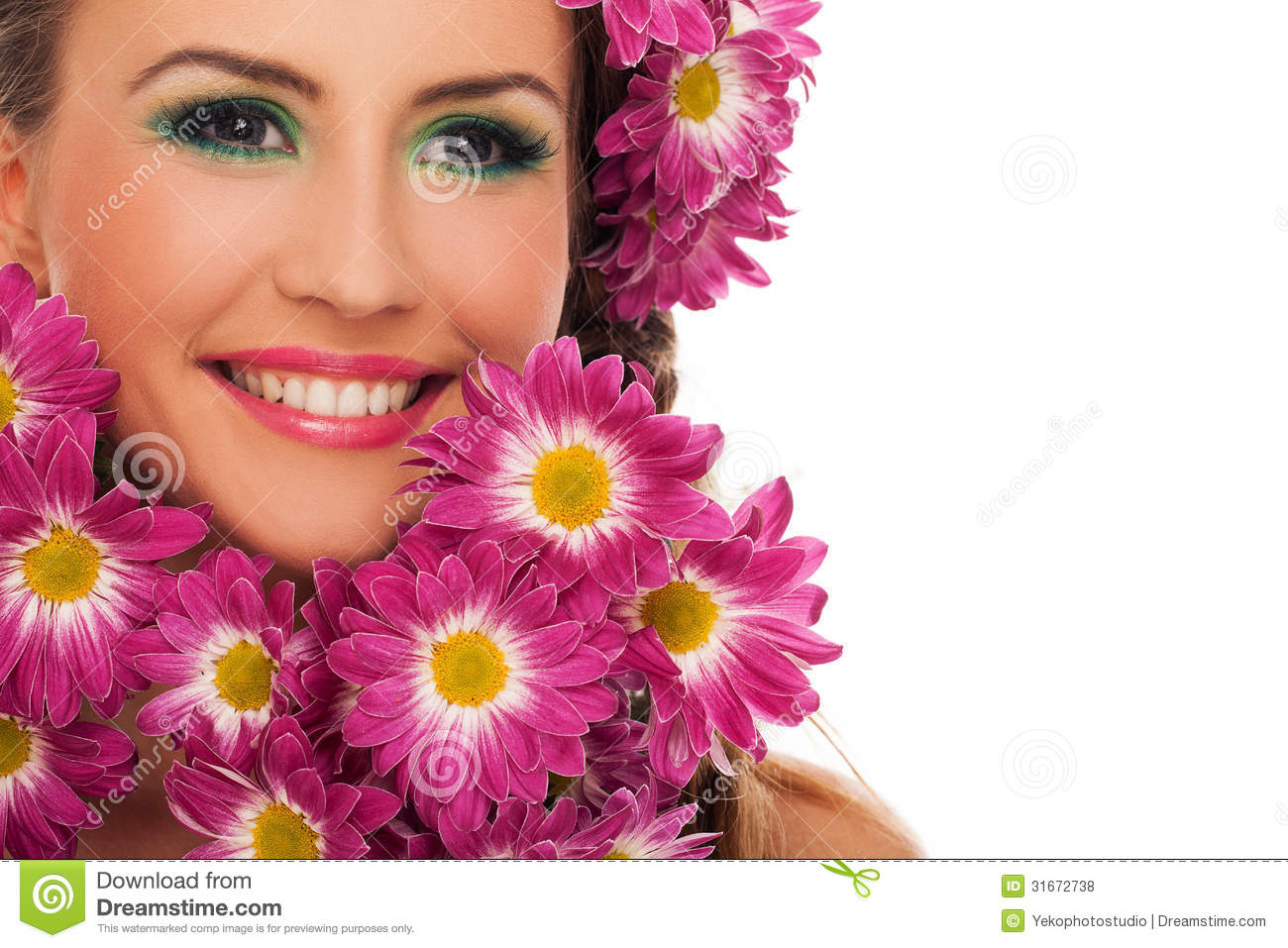 Beautiful woman with flowers in hair stock images image 31803334 young beautiful woman with flowers in hair royalty free stock photos dhlflorist Gallery