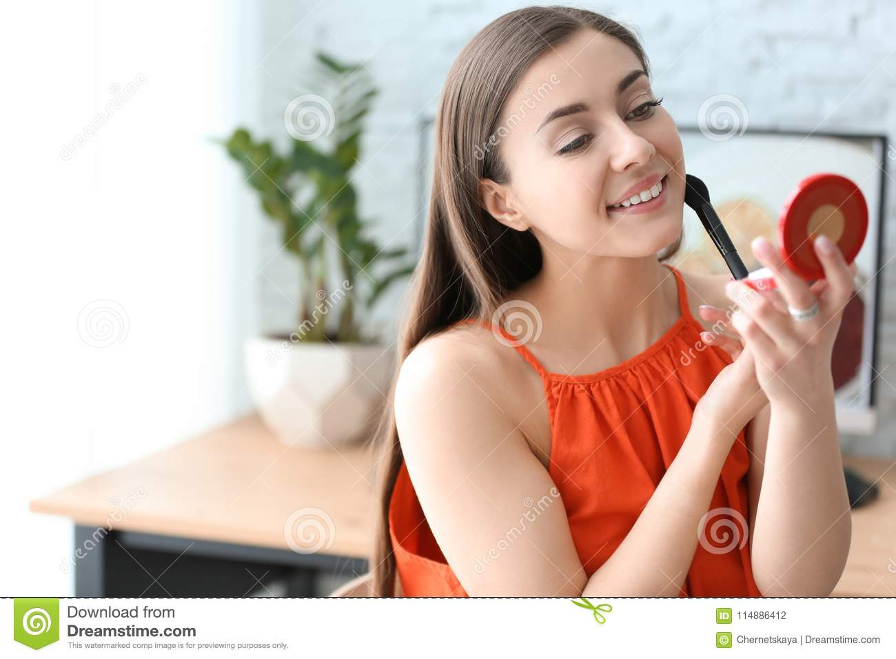 Woman Holding Mirror To Young Beautiful Woman Holding Mirror Beautiful Woman Holding Mirror Stock Photo Image Of Home