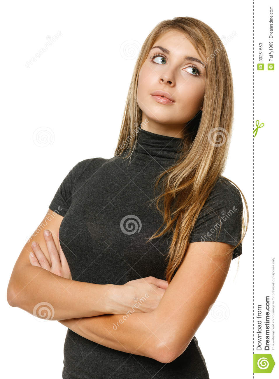 Woman Looking Back Over Her Shoulder Stock Photos - Image ...