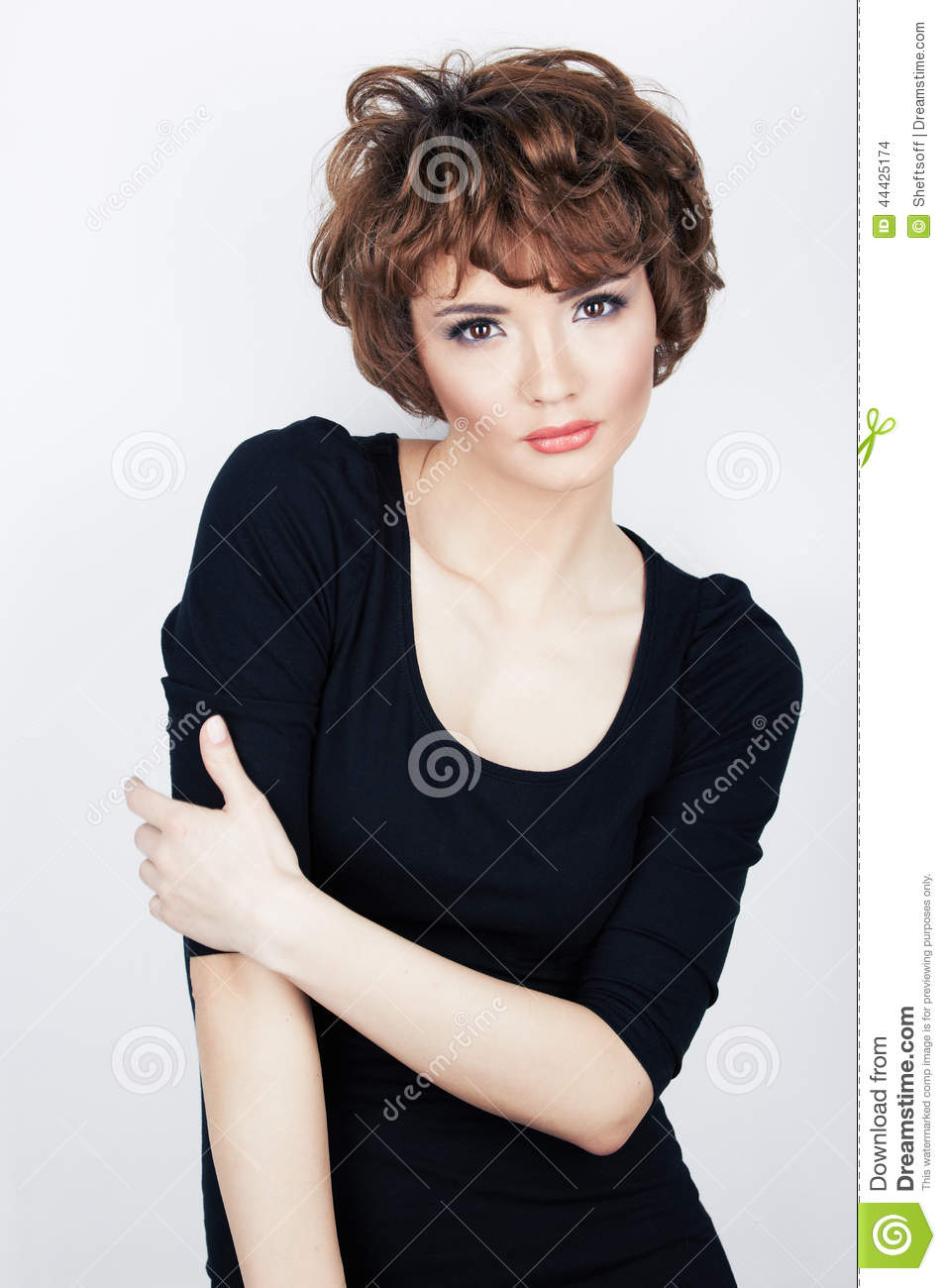 Young beauty model with short hair stock photo image 44425174 royalty free stock photo download young beauty model with short hair urmus Choice Image