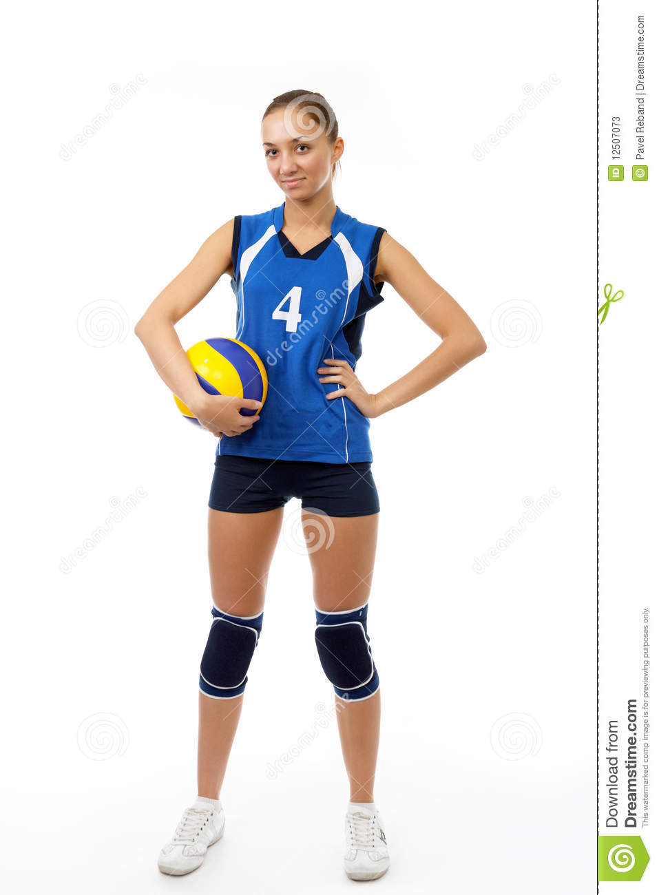 Young, Beauty Volleyball Player Stock Photos - Image: 12507073