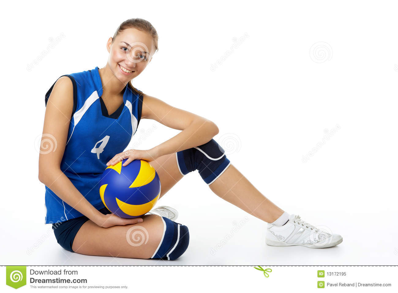Active Young Women Volleyball Player Sport Stock Vector: Young, Beauty Volleyball Player Stock Image