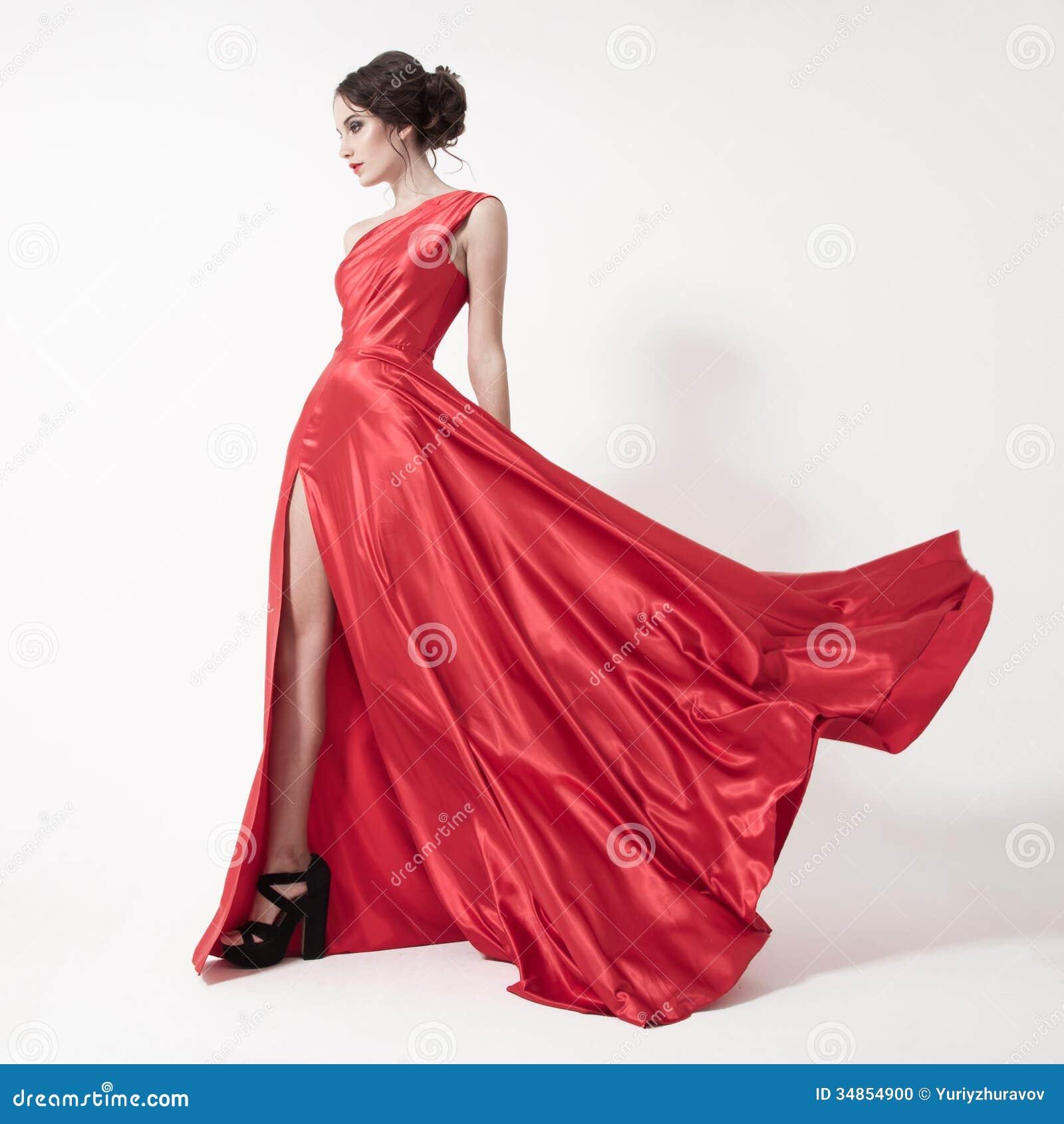 Lastest Beautiful Woman White Dress On White Stock Photo 216880795