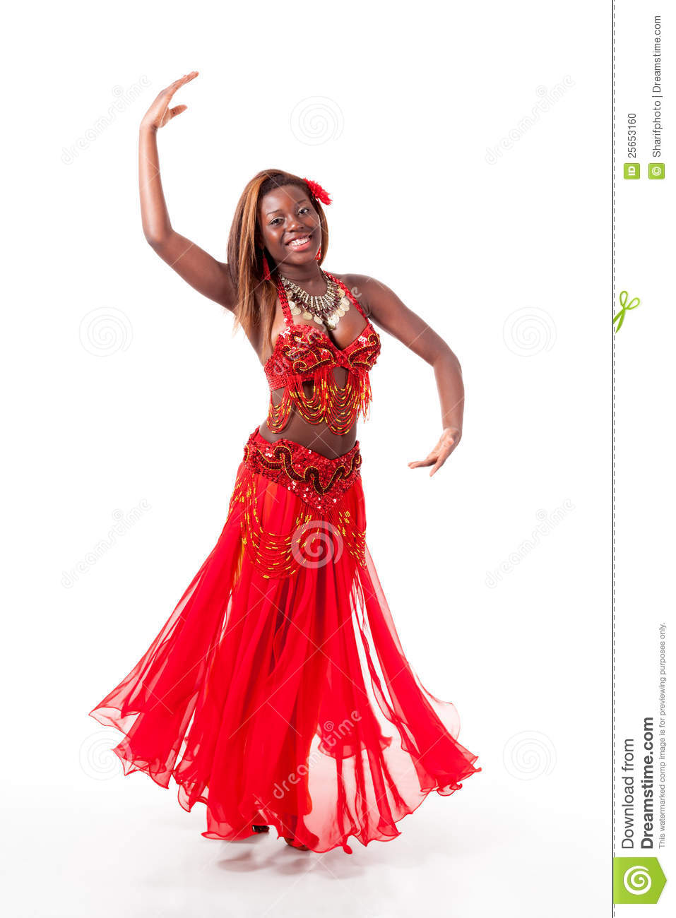 Young Belly Dancer In A Turn Stock Photo Image 25653160