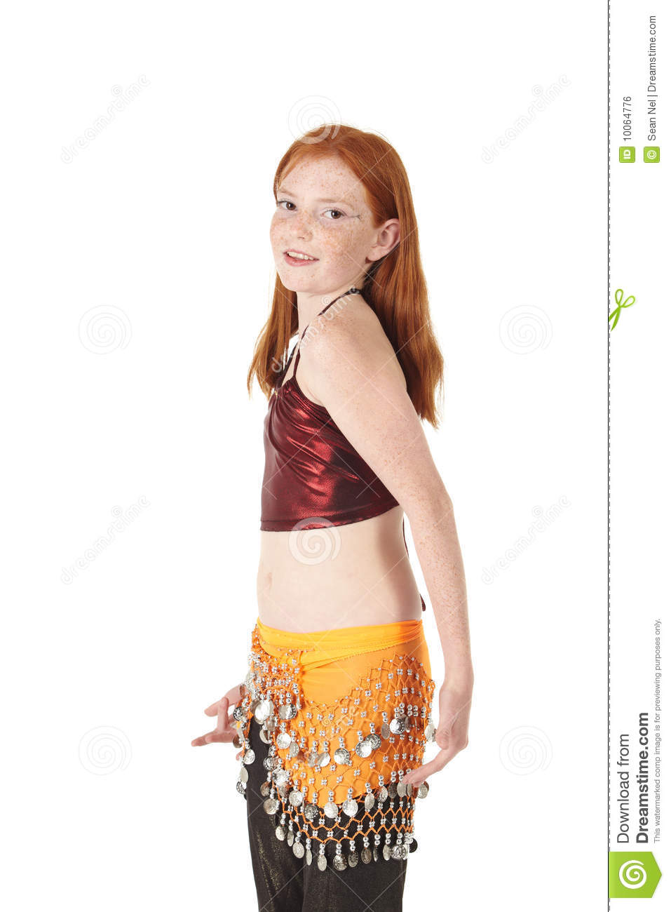 young girl belly dance