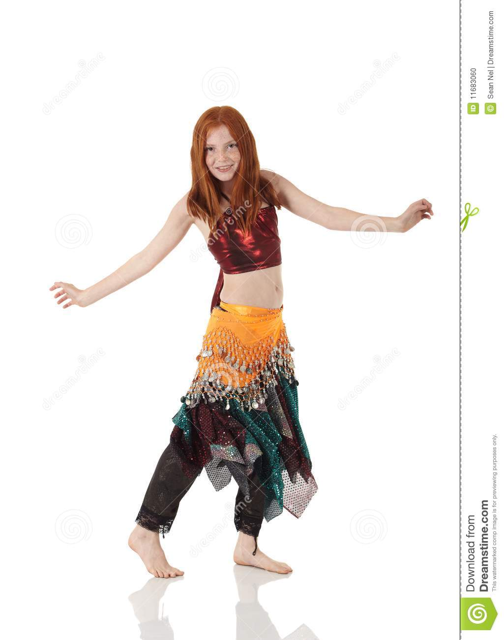 fe4184891250 Young belly dancing girl stock photo. Image of isolated - 11683060