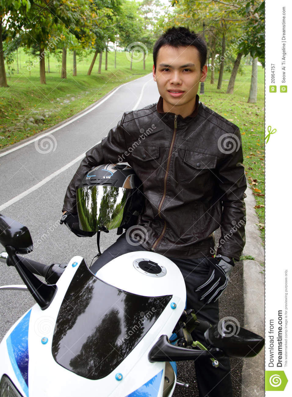 Young Biker Stock Image Image Of Smiling Outdoor