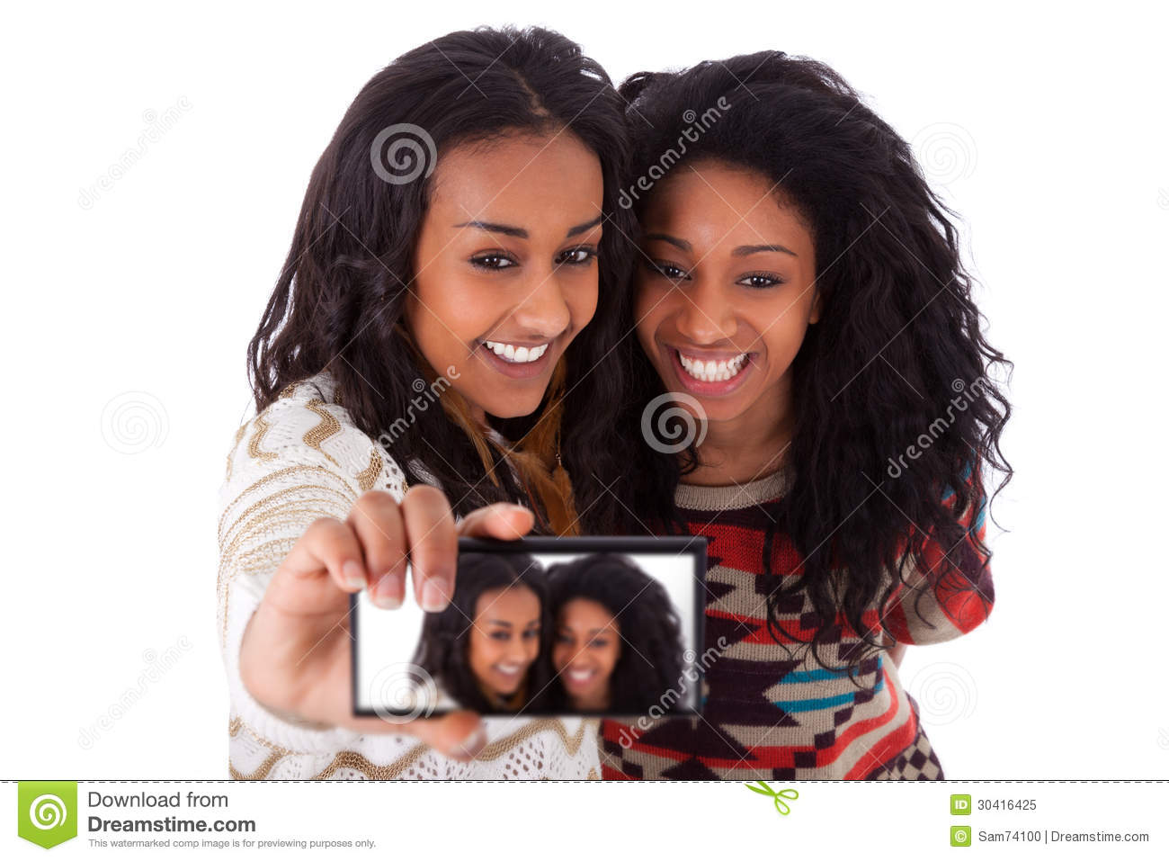 phone Black teen girl cell