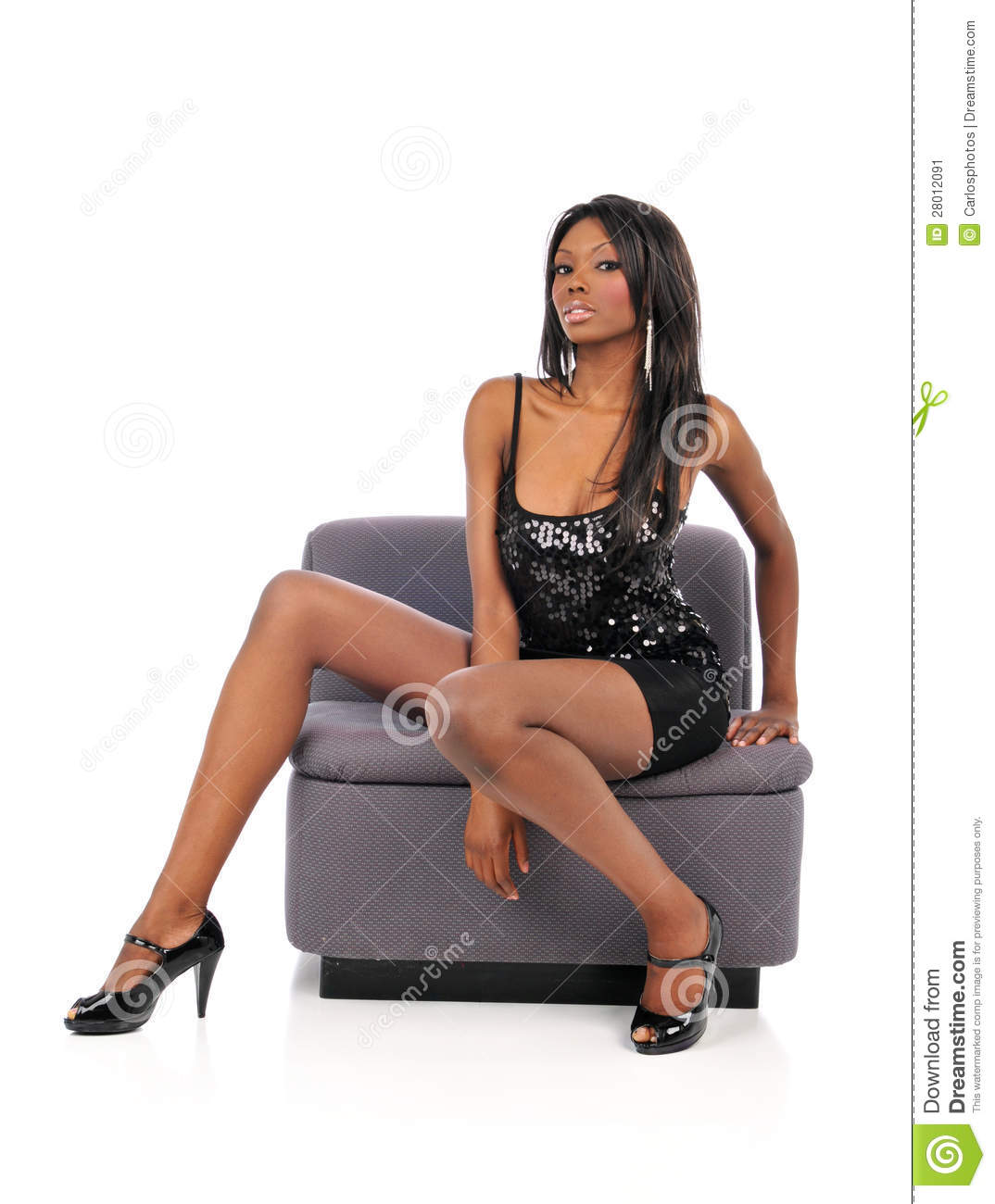 couch black woman