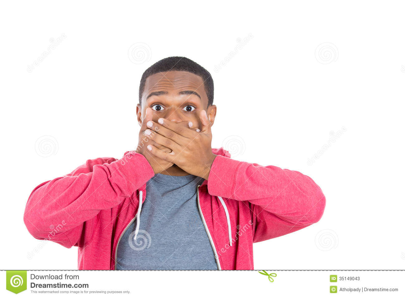 A Young Black Man In Disbelief Stock Image Image Of