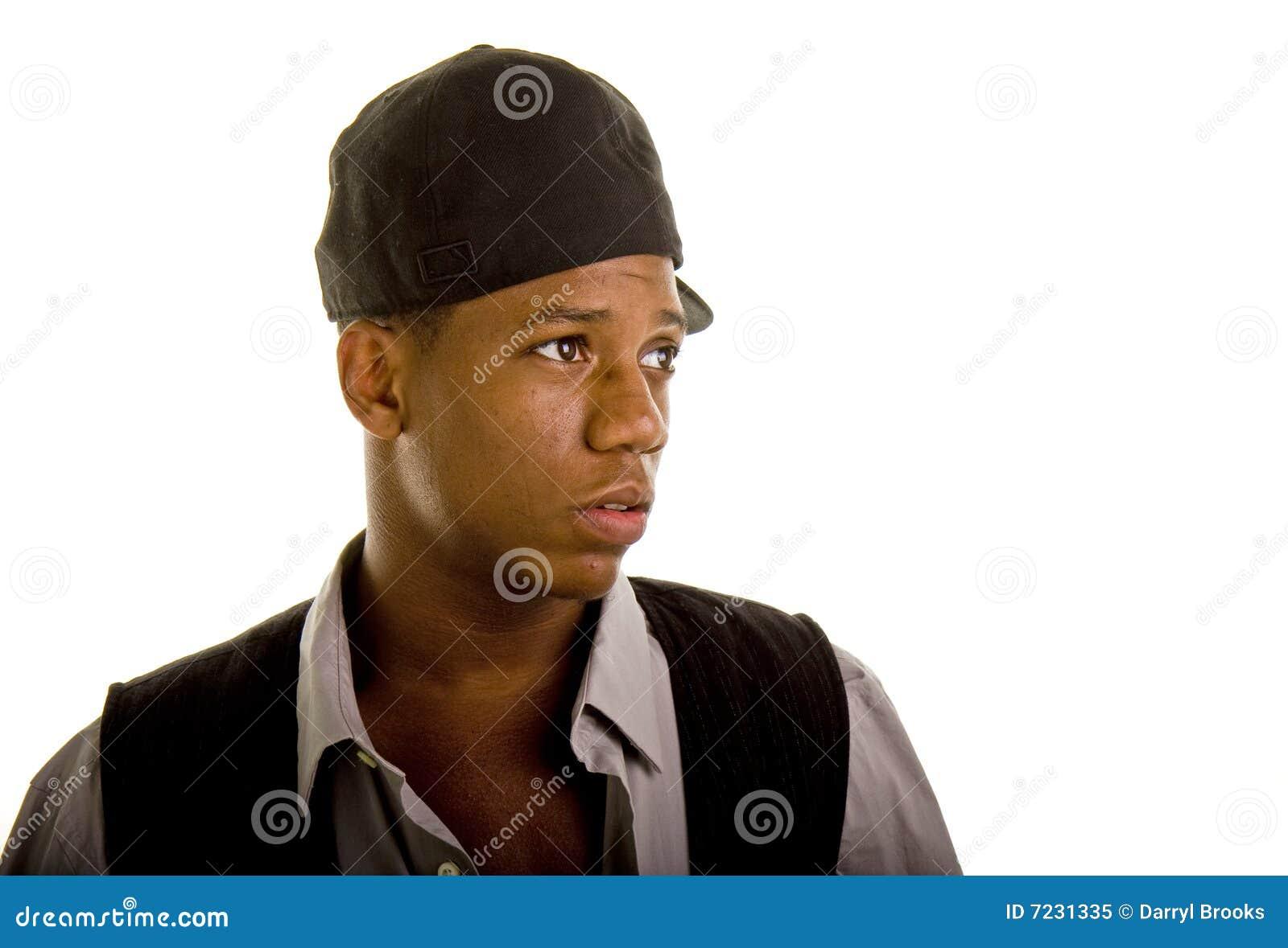 African American Man Looking Sideways Stock Image ...